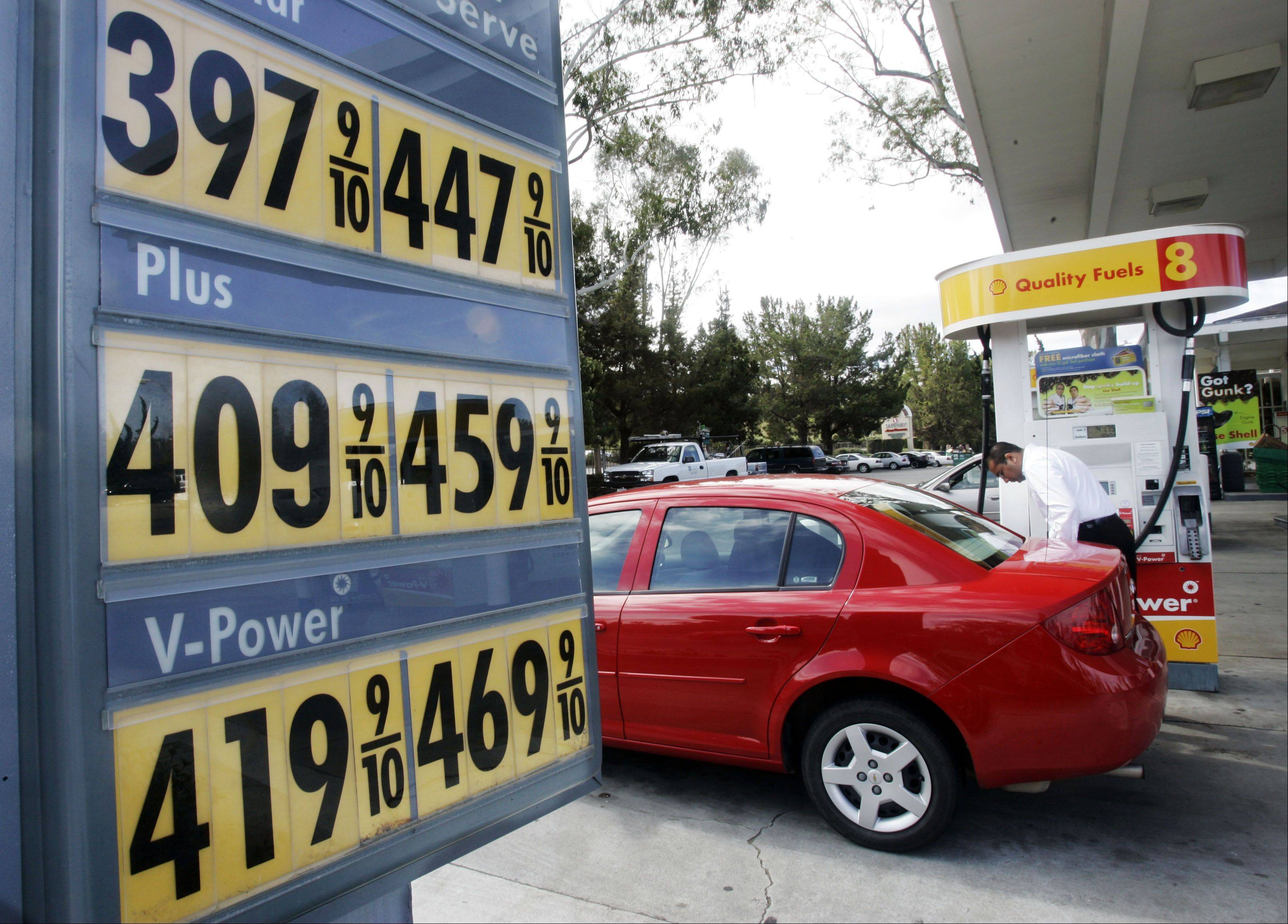 The average U.S. price of a gallon of gasoline has fallen about 8 cents over the past two weeks.