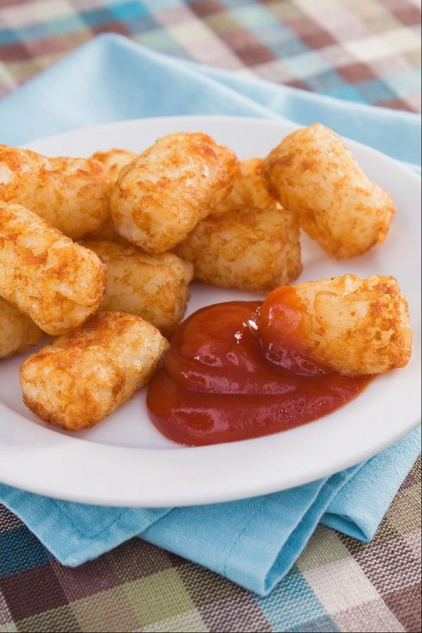 Tater tots, whether homemade or frozen, are a filling side dish or can be used in casseroles as well.