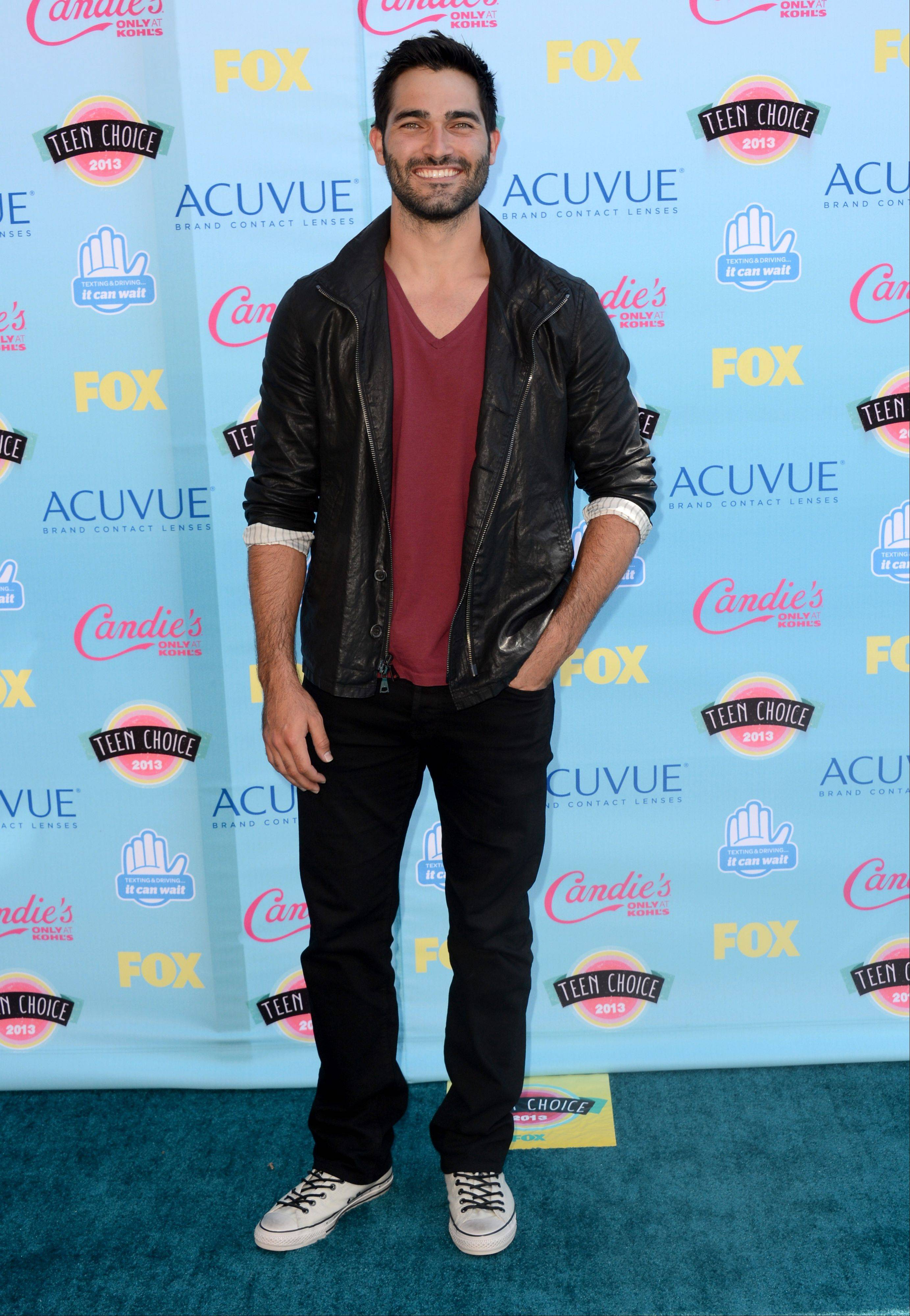 """Teen Wolf"" star Tyler Hoechlin arrives at the Teen Choice Awards at the Gibson Amphitheater on Sunday in Los Angeles."