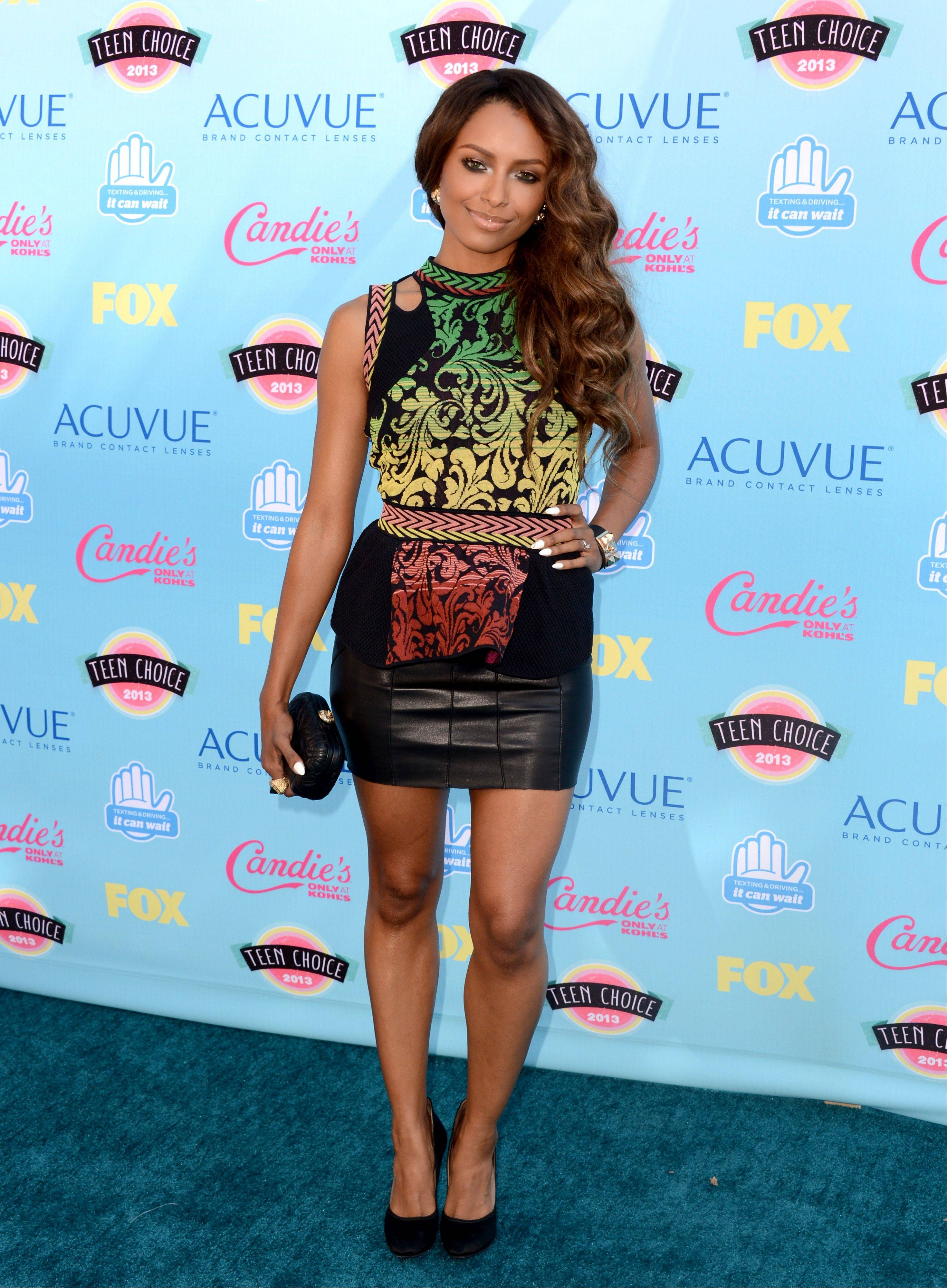 """The Vampire Diaries"" star Kat Graham arrives at the Teen Choice Awards at the Gibson Amphitheater on Sunday in Los Angeles."