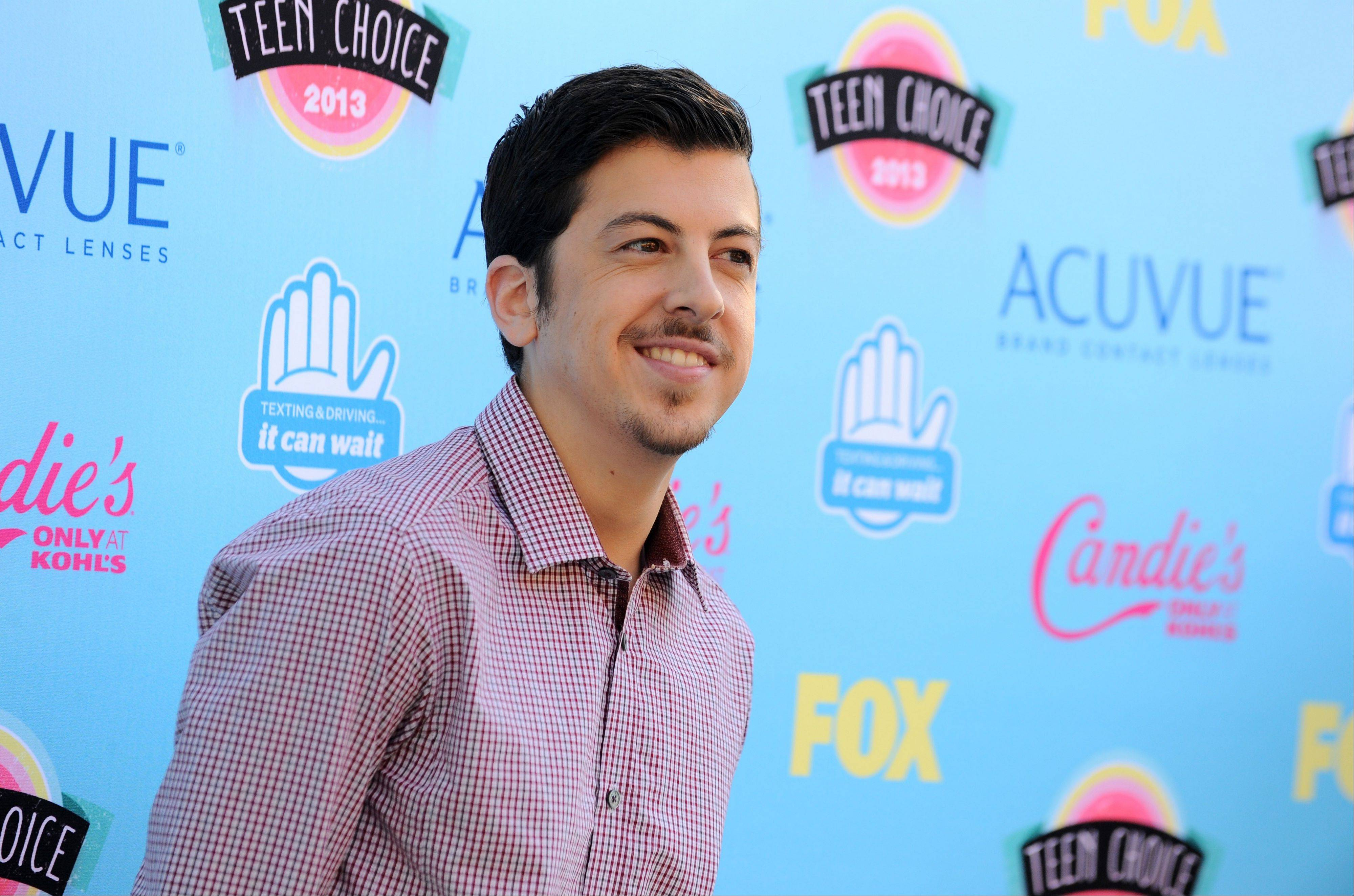 """Pitch Perfect"" star Christopher Mintz-Plasse arrives at the Teen Choice Awards at the Gibson Amphitheater on Sunday."