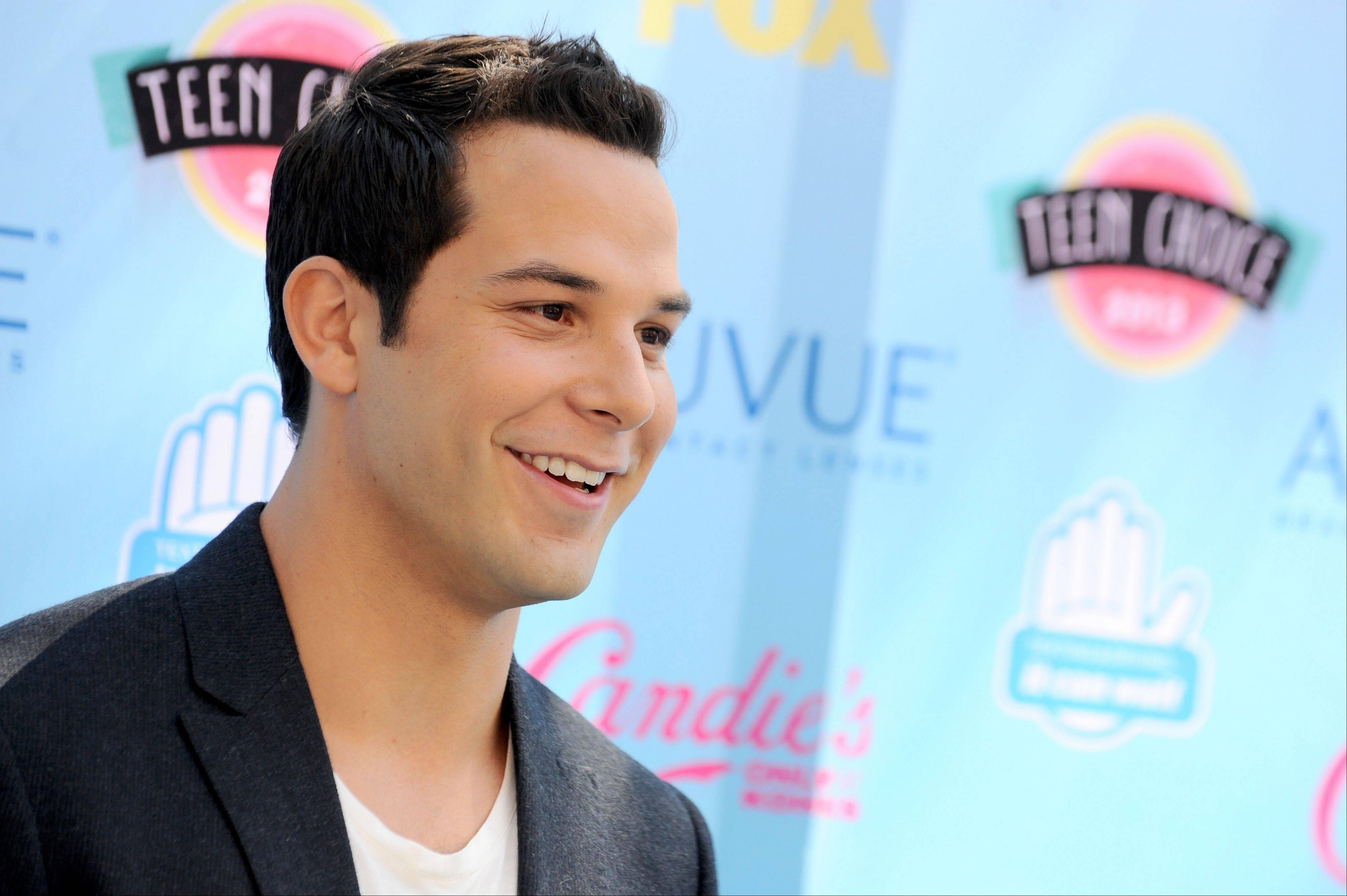 """Pitch Perfect"" star Skylar Astin arrives at the Teen Choice Awards at the Gibson Amphitheater on Sunday in Los Angeles."