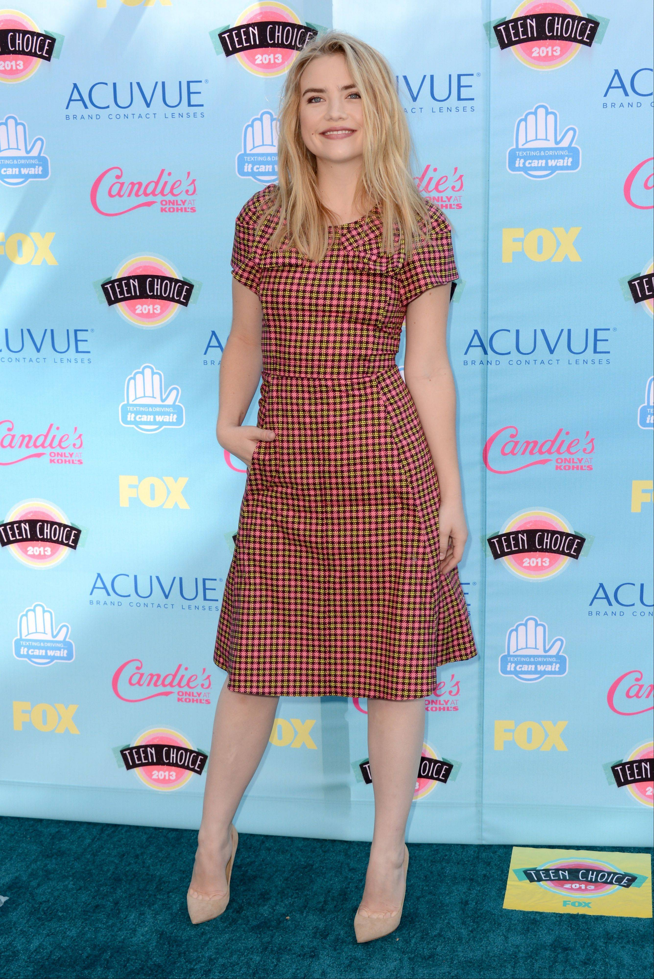 """Twisted"" star Maddie Hasson arrives at the Teen Choice Awards on Sunday."