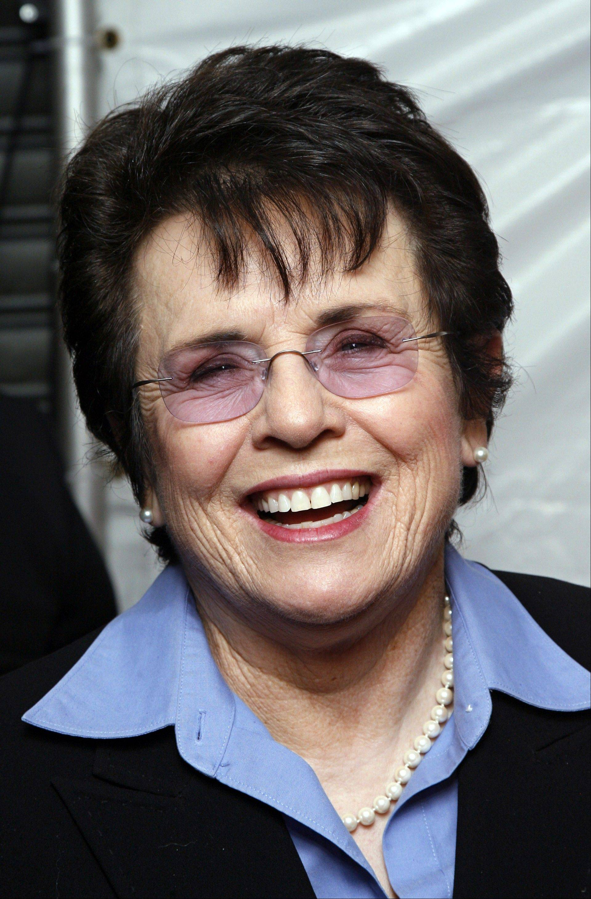 "Billie Jean King will be the first sports figure to be profiled on PBS' ""American Masters."""