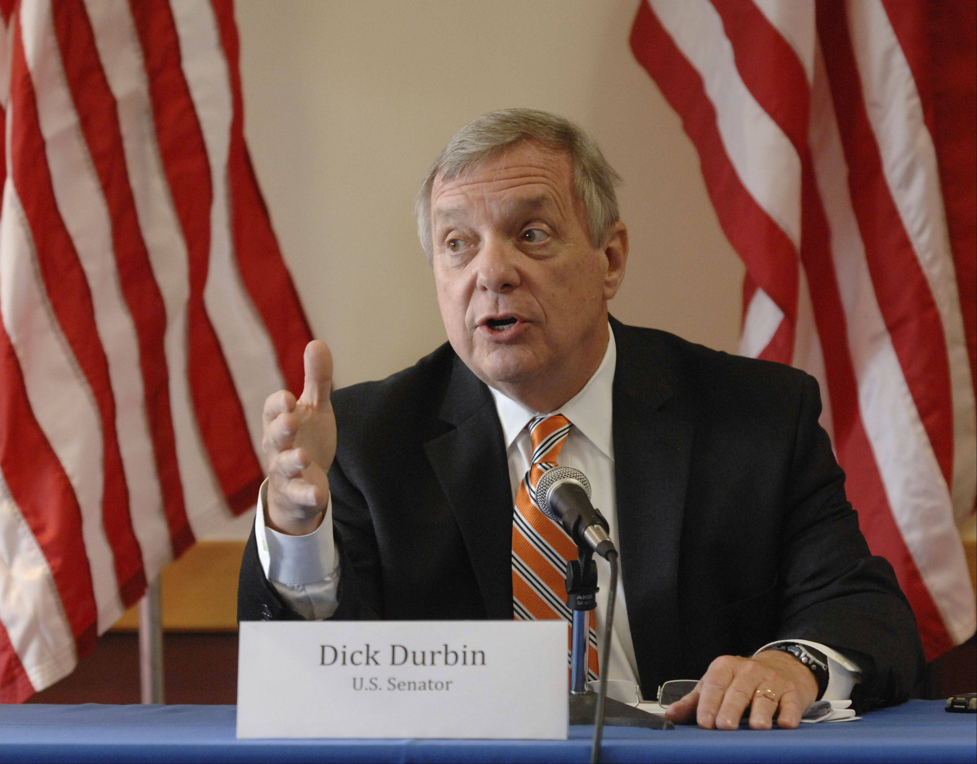 U.S. Sen Dick Durbin says he hopes the House takes action this year on immigration legislation the Senate approved to enhance border security and establish a legal path to citizenship for some of the nation's estimated 11 million undocumented immigrants.