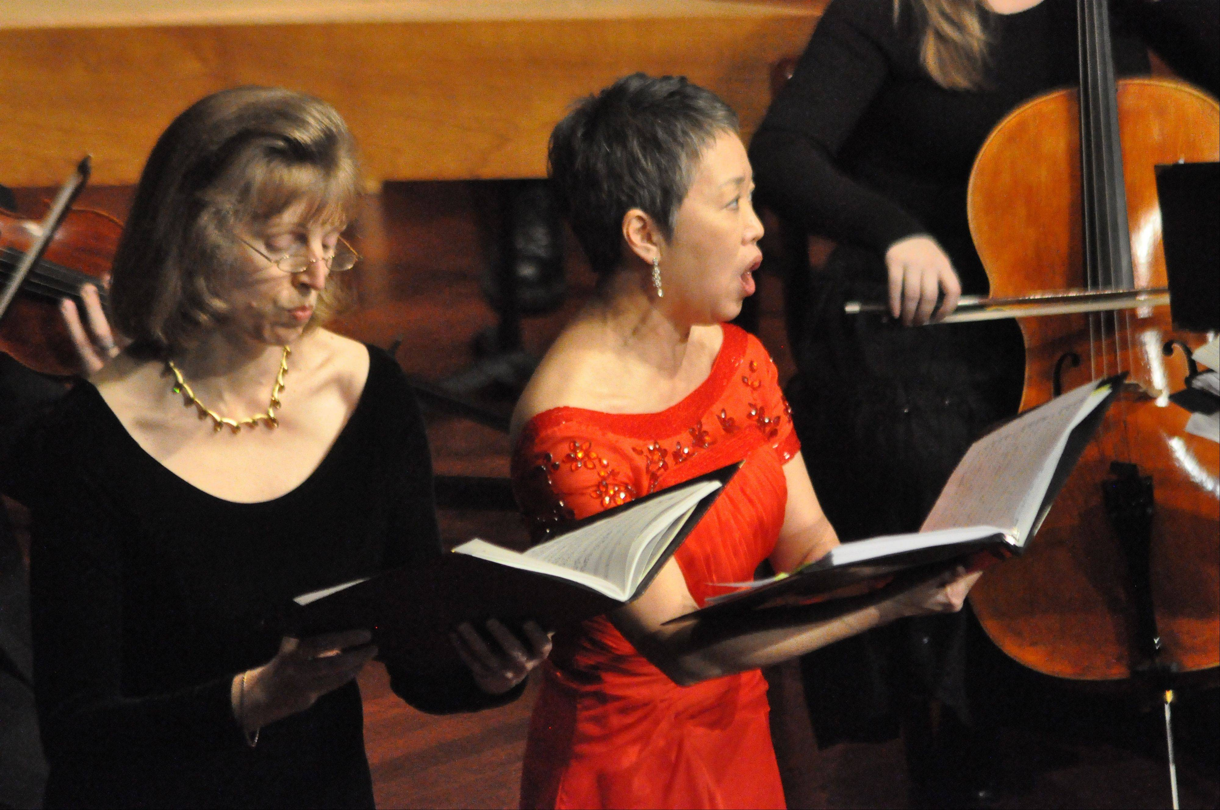 The 65-member Fox Valley Orchestra, has an annual budget of about $150,000 and has received no money from the city of Aurora in the last couple of years. Here, mezzo-soprano Victoria Linich, left, performs with the FVO in 2011.