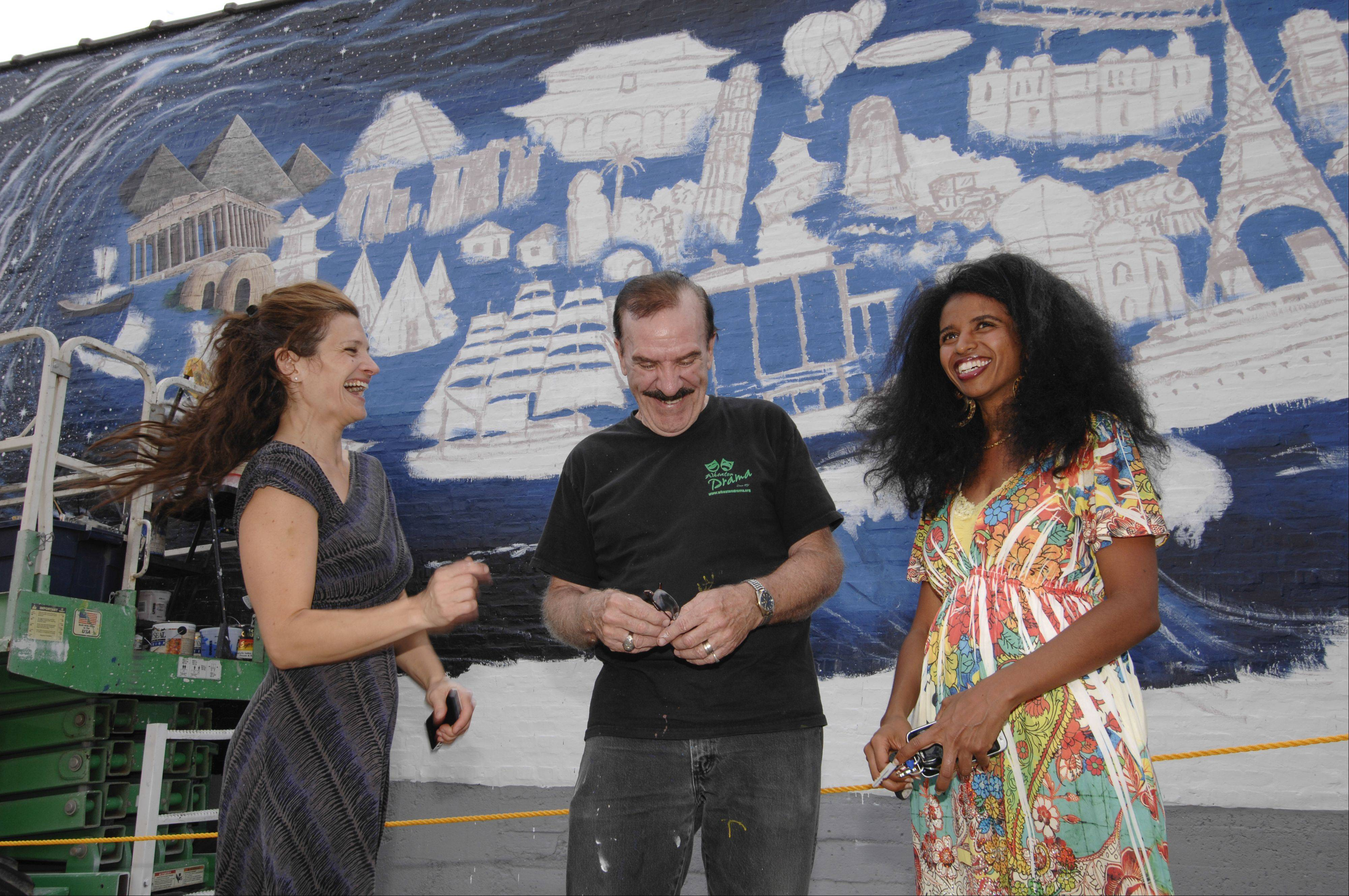 "Jeannine Clinton, R.J. Ogren and Mehret Asgedom all are playing key roles in the creation of a 70-foot-wide mural, ""Pearls of the Universe."""