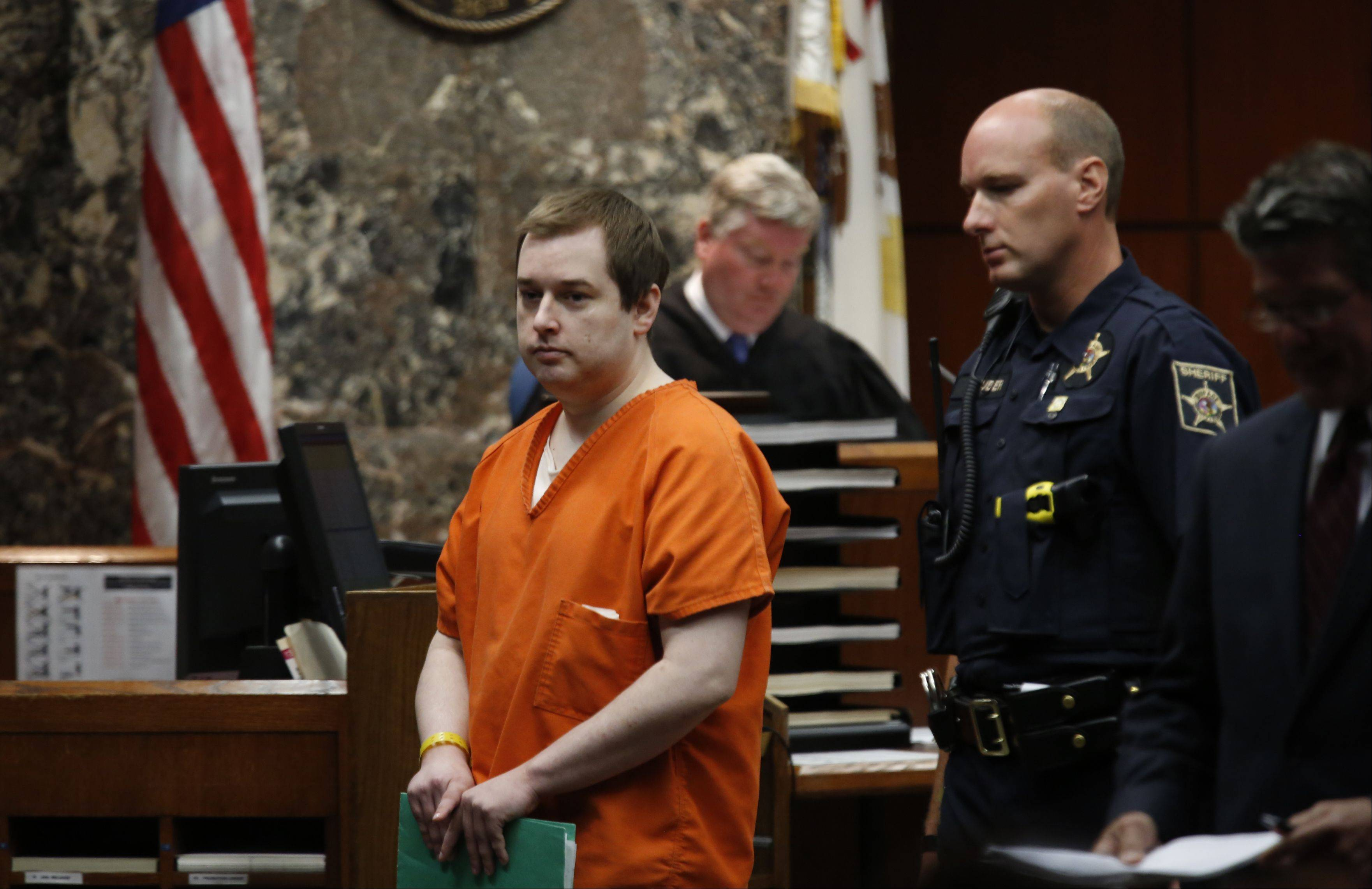 Jacob Nodarse appeared in DuPage County court Monday, and was sentenced to 75 years in prison for the slayings of three members of a Darien family. He pleaded guilty but mentally ill to the 2010 shooting deaths of Jeffrey and Lori Kramer and their son Michael.