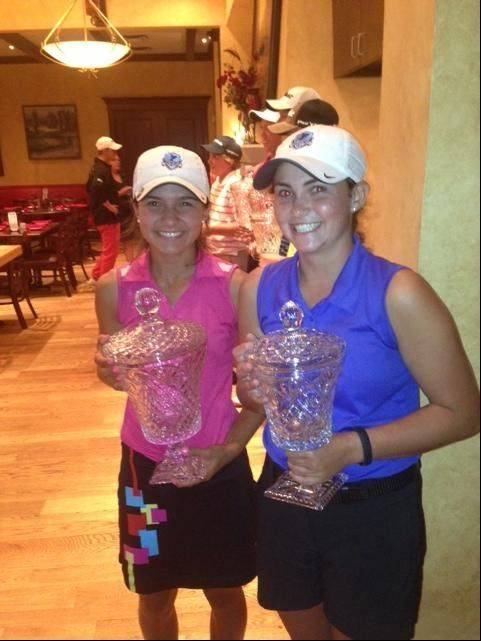 Prospect's Ally Scaccia, left, and Kacie O'Donnell recently placed 1-2 in the IJGA Player of the Year championship at Bowes Creek Country Club in Elgin.