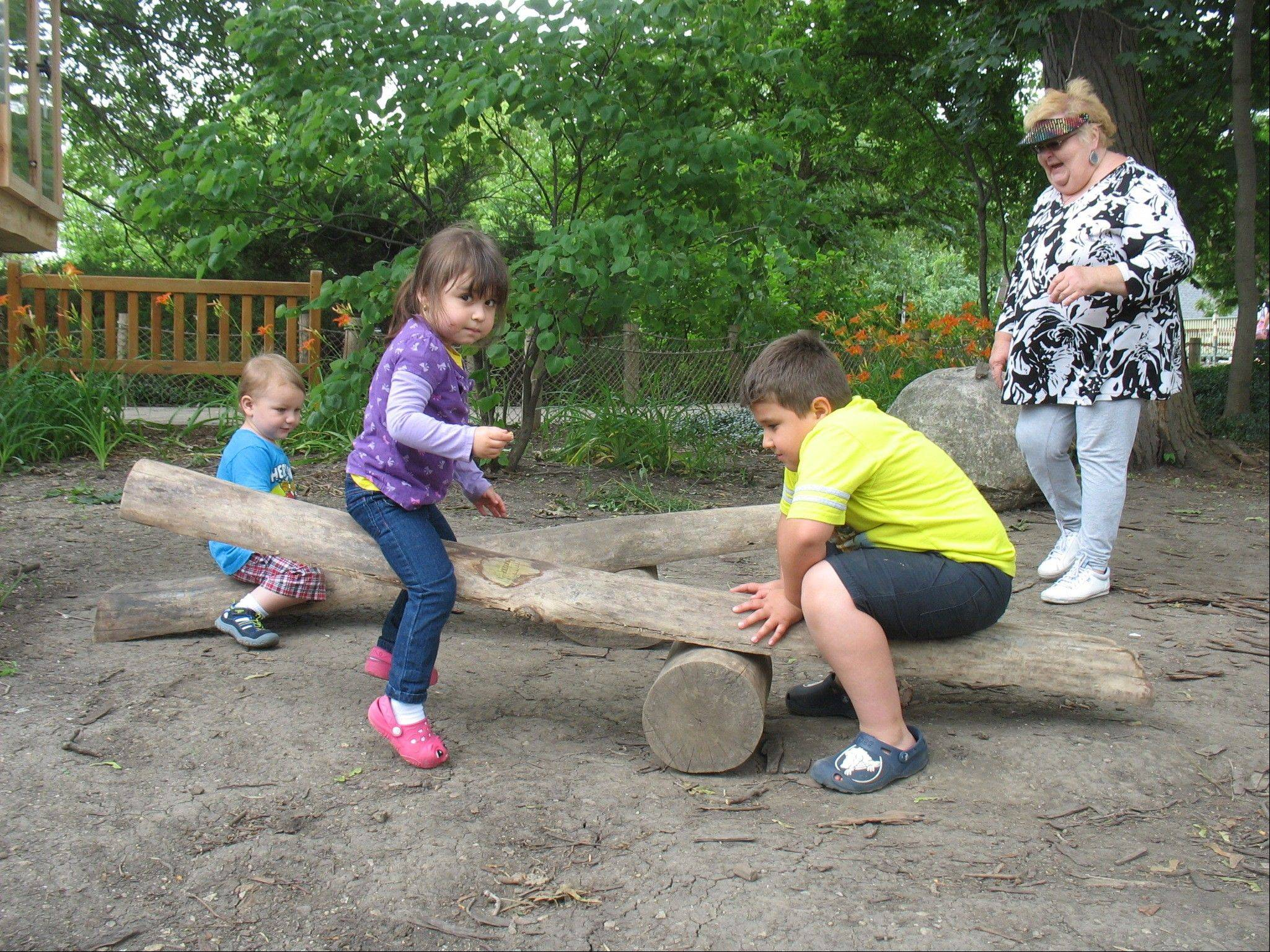 The new Nature Play Area at Cosley Zoo in Wheaton is designed to spark children's imaginations.