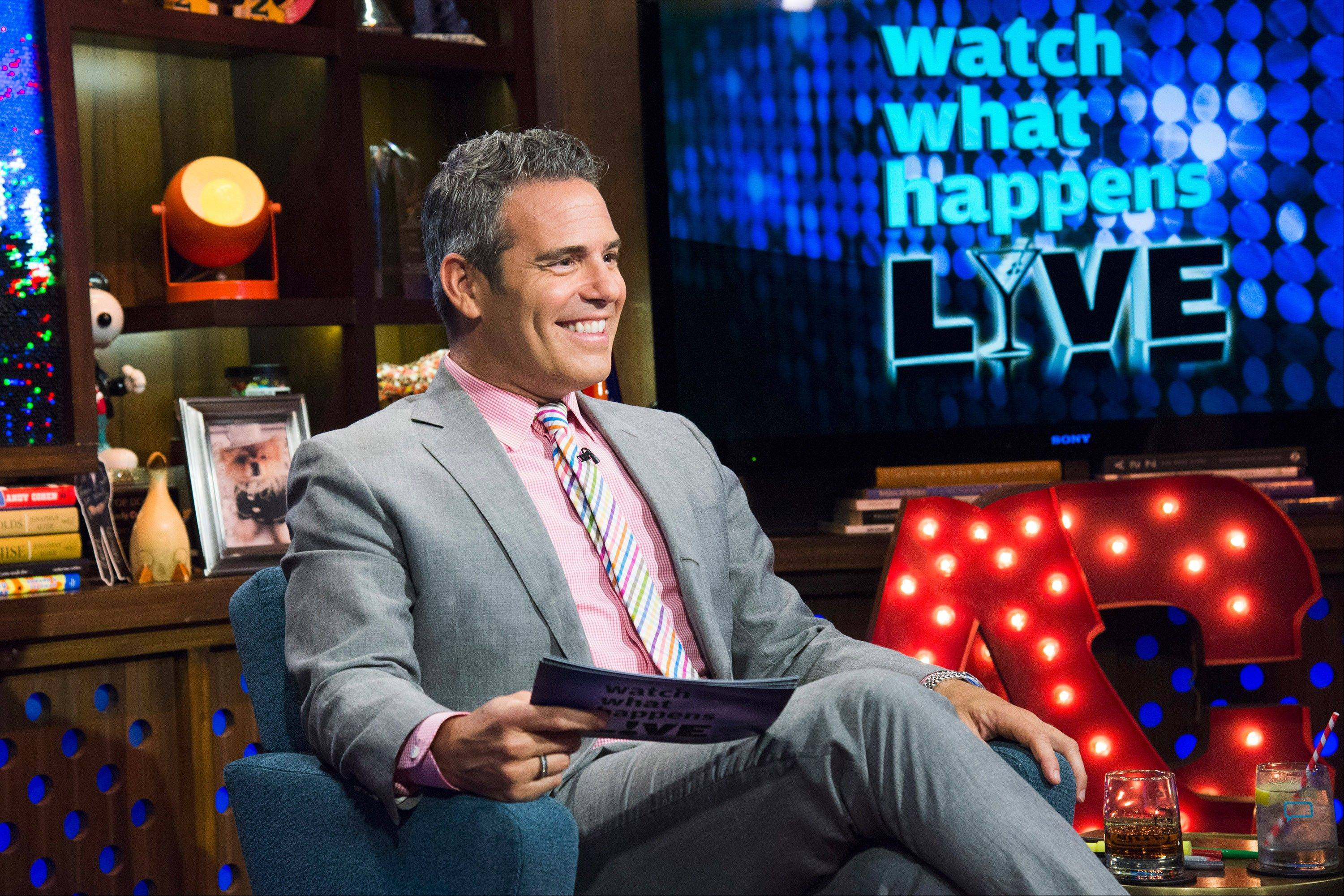 "Andy Cohen chats about ""Real Housewives"" shows after they air in ""Watch What Happens Live."" It's one of many ""after-shows"" popping up on cable TV."