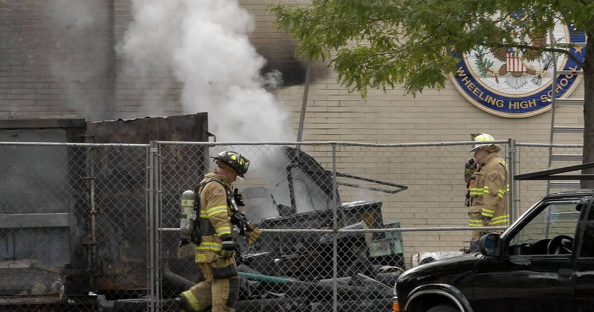 Tar Kettle Catches Fire At Wheeling High School No Damage