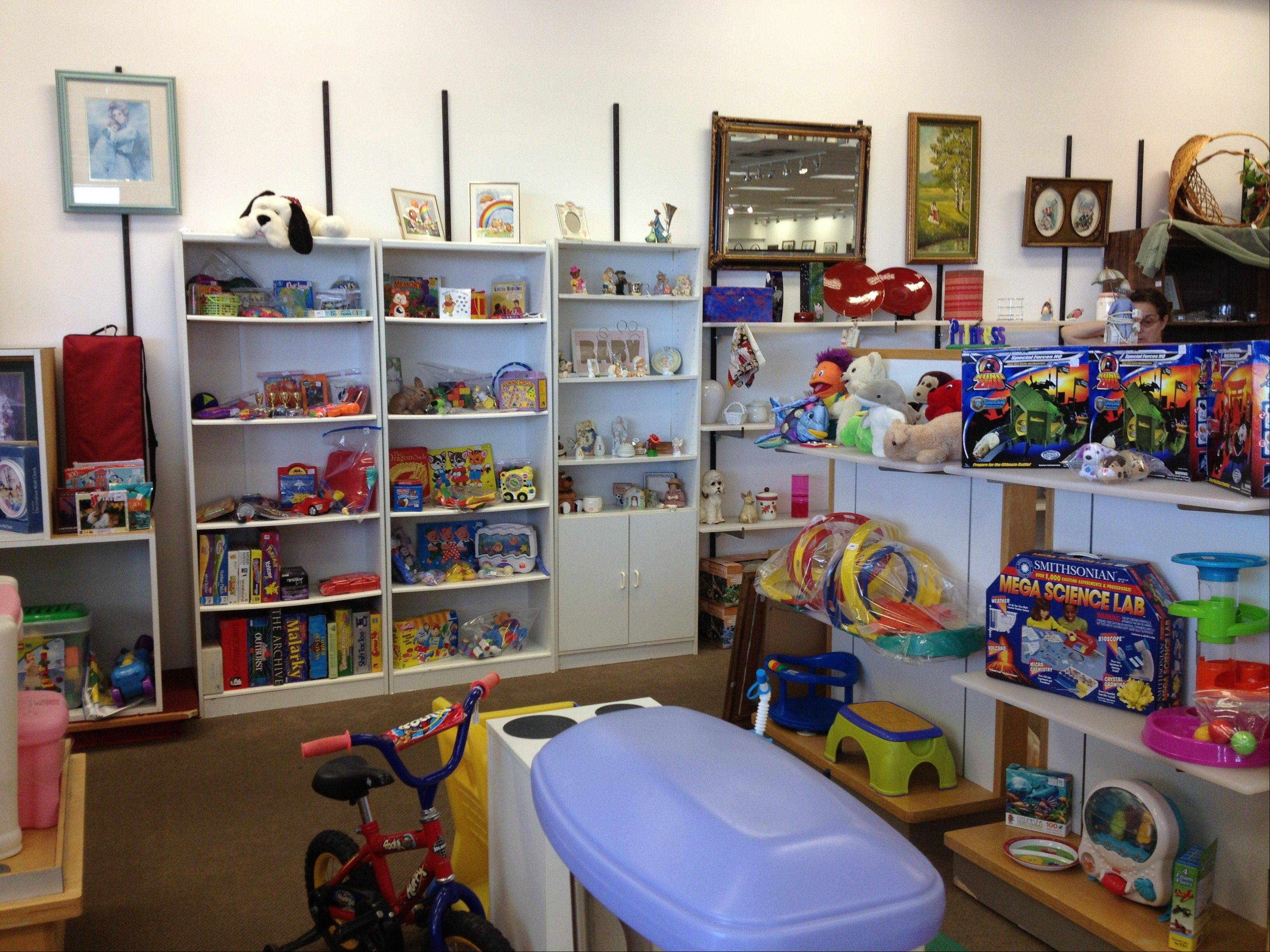 Sweet Repeats Thrift Shoppe, now located in the Huntley Outlet Center, sells new and gently used items, including books, toys, furniture and appliances. The store is holding its grand opening Friday through Sunday. It moved to the mall about a month ago from another Huntley location.