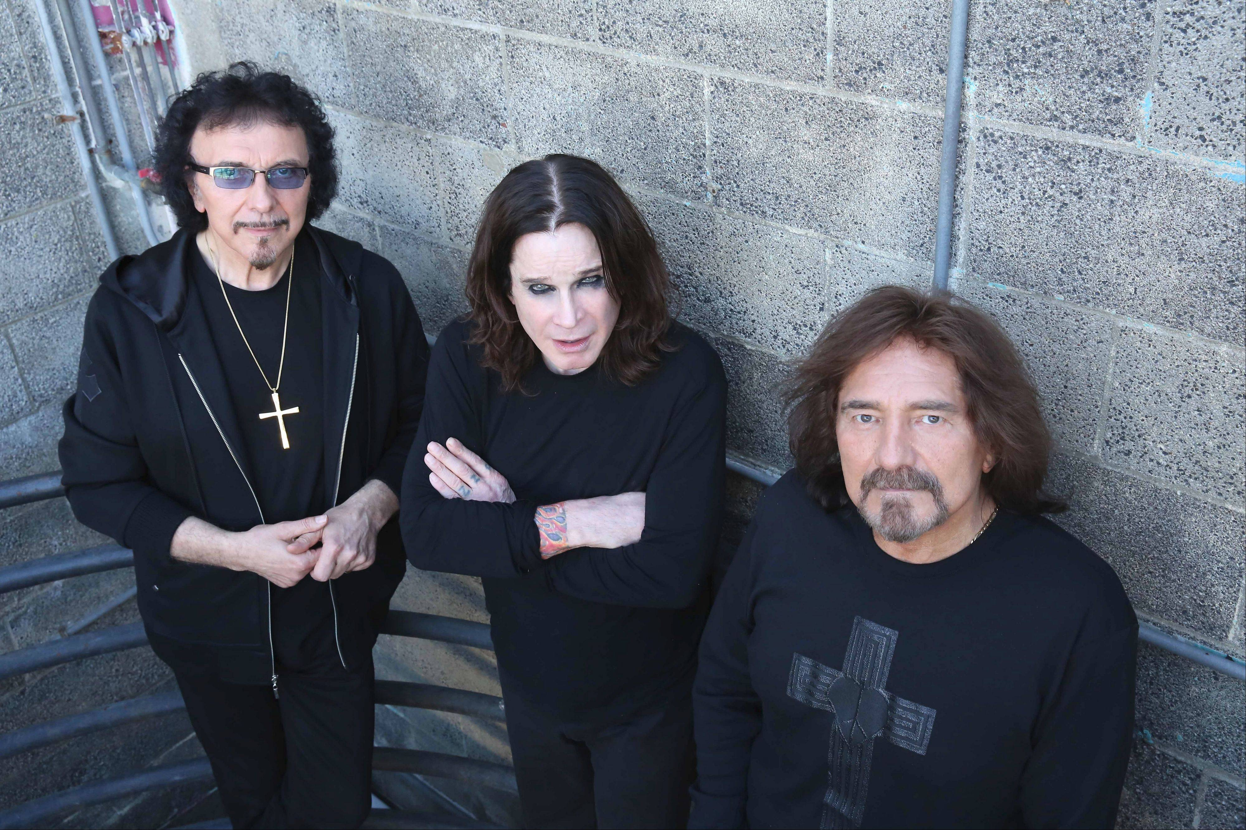 Black Sabbath, featuring founding members Tony Iommi, left, Ozzy Osbourne, and Geezer Butler, perform Friday, Aug. 16, at First Midwest Bank Amphitheatre in Tinley Park.