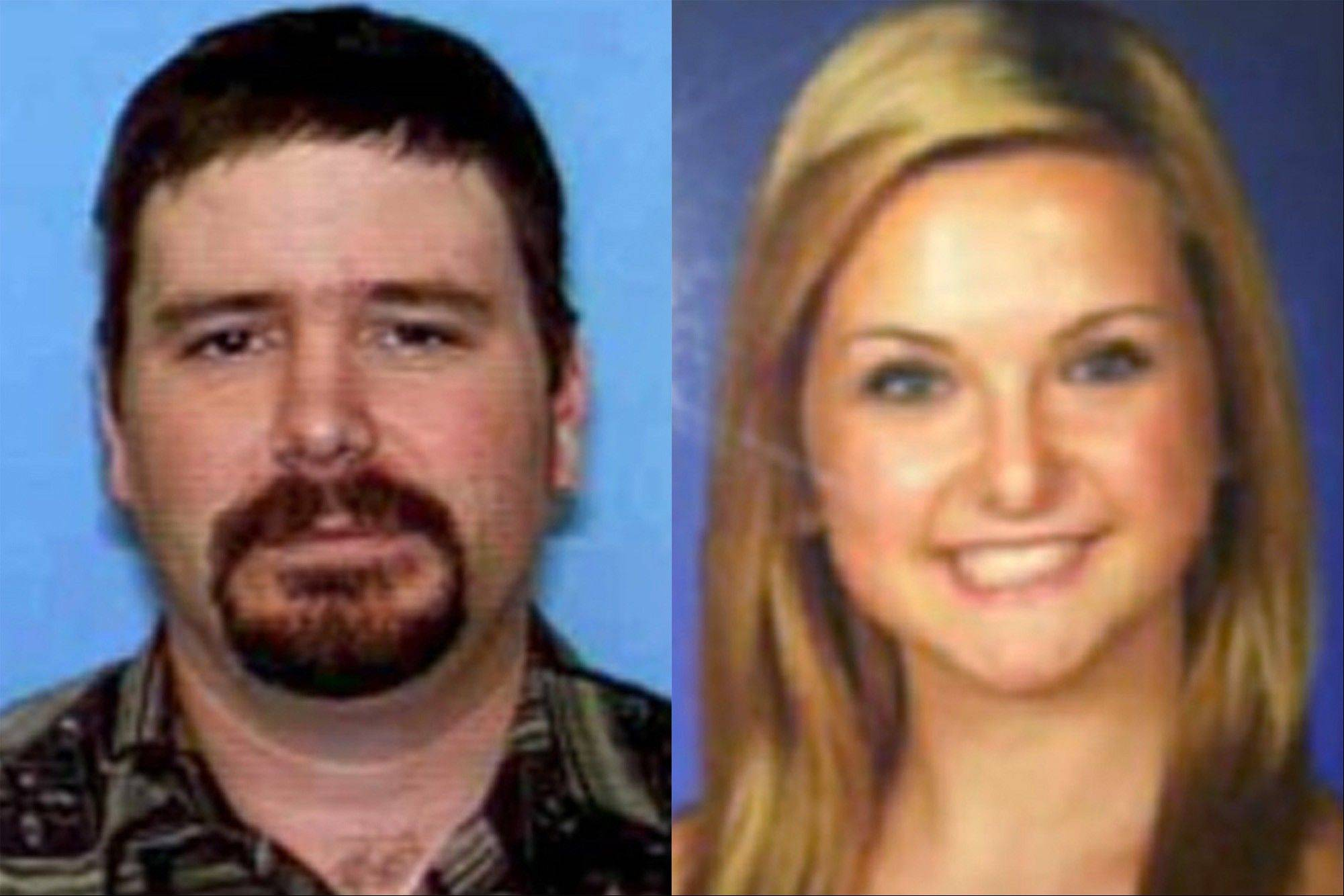 This combination of undated photos shows James Lee DiMaggio, 40, left, and Hannah Anderson, 16. Anderson went online barely 48 hours after her rescue Saturday and started fielding hundreds of questions through a social media site.