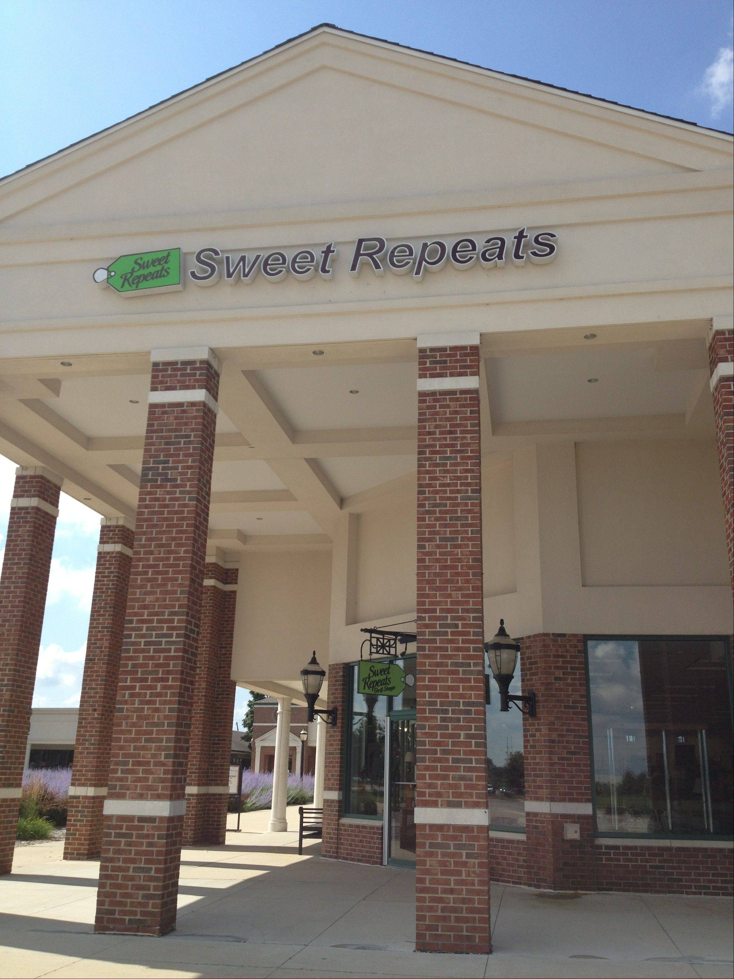Sweet Repeats Thrift Shoppe, which raises money for the Pioneer Center for Human Services, has moved to the Huntley Outlet Center. Its shop is near the Gap Outlet store.
