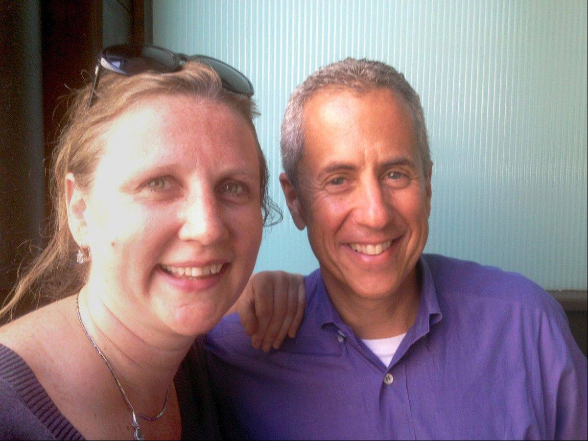 Chef Angela Hartnett and New York restaurateur Danny Meyer in London last July. Meyer created Shake Shack but has also opened the new Creative Juice store in New York, while Hartnett noted that 'we do use less butter and heavy stocks.