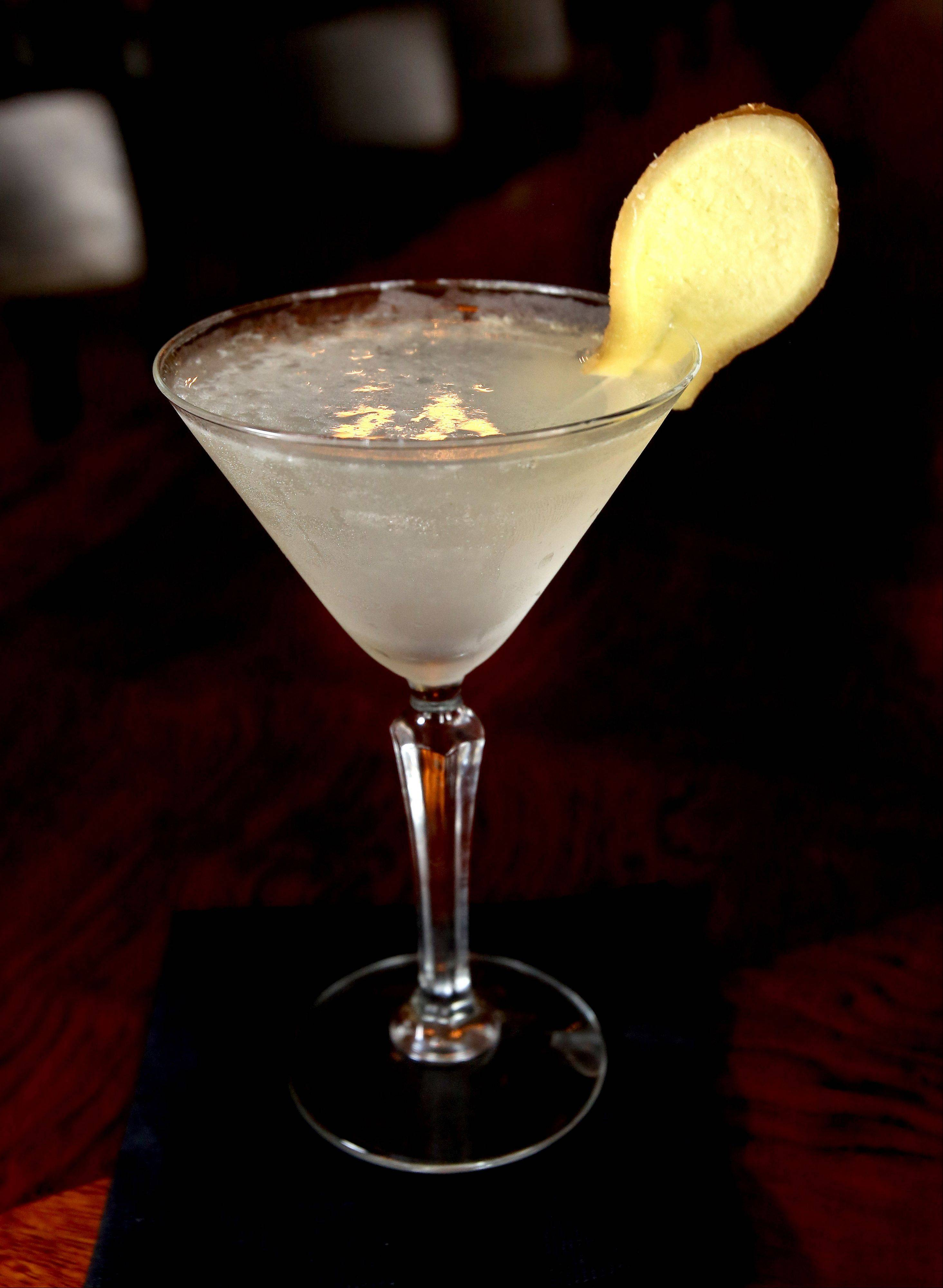 A lemon ginger martini is one of the Asian-themed cocktails at 8,000 Miles in Roselle.
