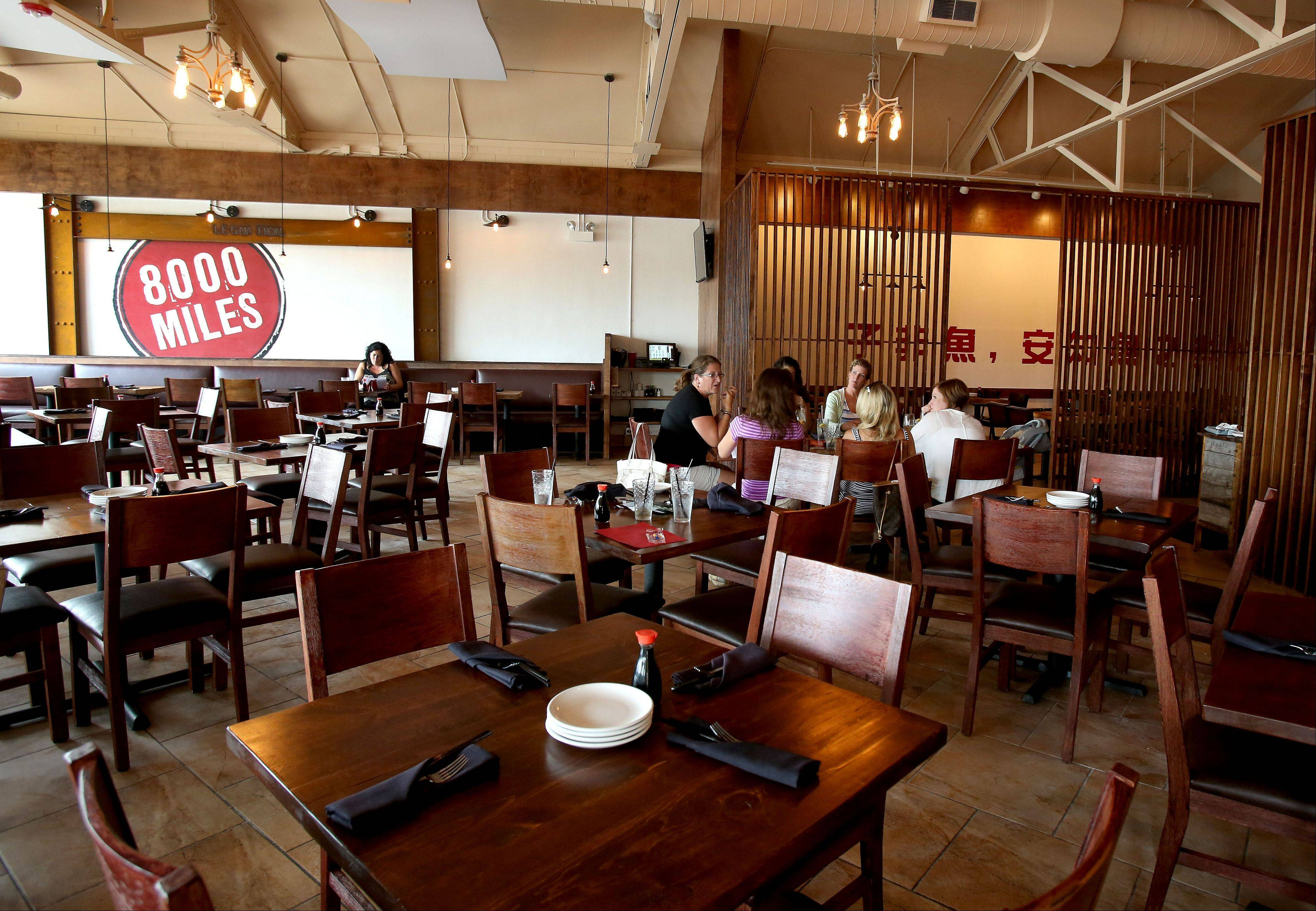 8,000 Miles serves Chinese and Japanese fare, along with a sprinkling of Thai dishes.