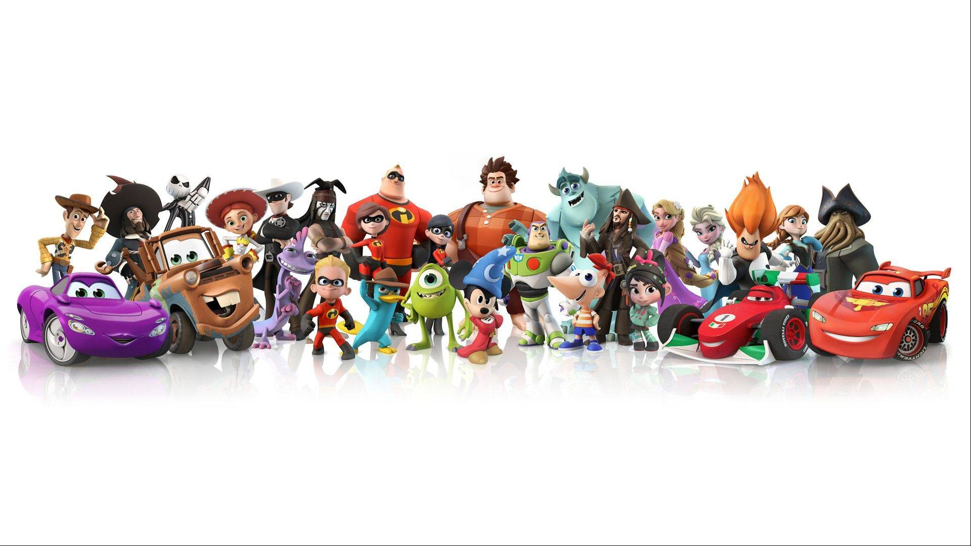 """Disney Infinity: The Toy Box"" combines real-life figurines with a virtual world."