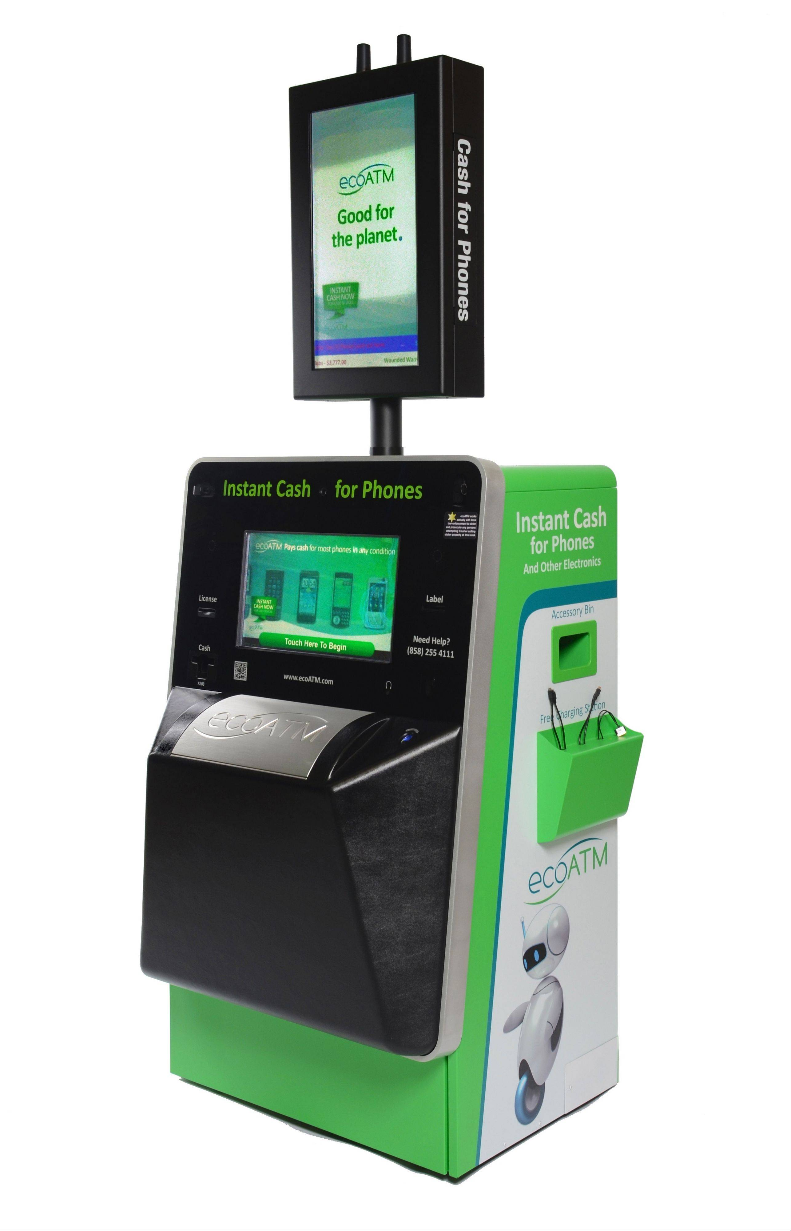 EcoATM machines, that evaluate and offer to buy your older cellphone, are available at Woodfield Mall in Schaumburg, Stratford Square in Bloomingdale, Westfield Hawthorn in Vernon Hills, among others. The company was recently acquired by Outerwall, formerly Coinstar, which also owns Oakbrook Terrace-based Redbox.