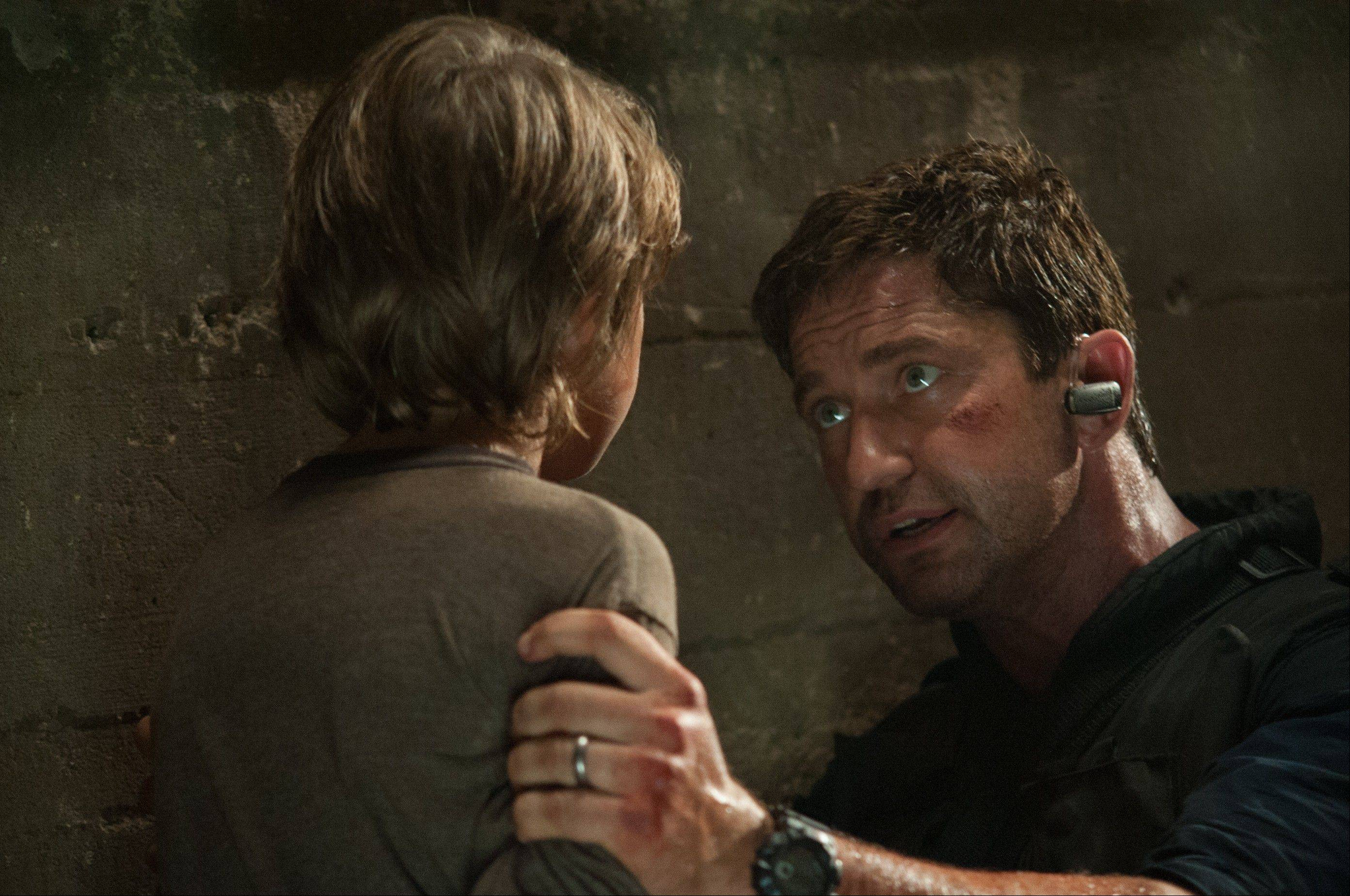 "Secret Service Agent Mike Banning (Gerard Butler) saves the son of the U.S. president in ""Olympus Has Fallen,"" now on DVD."