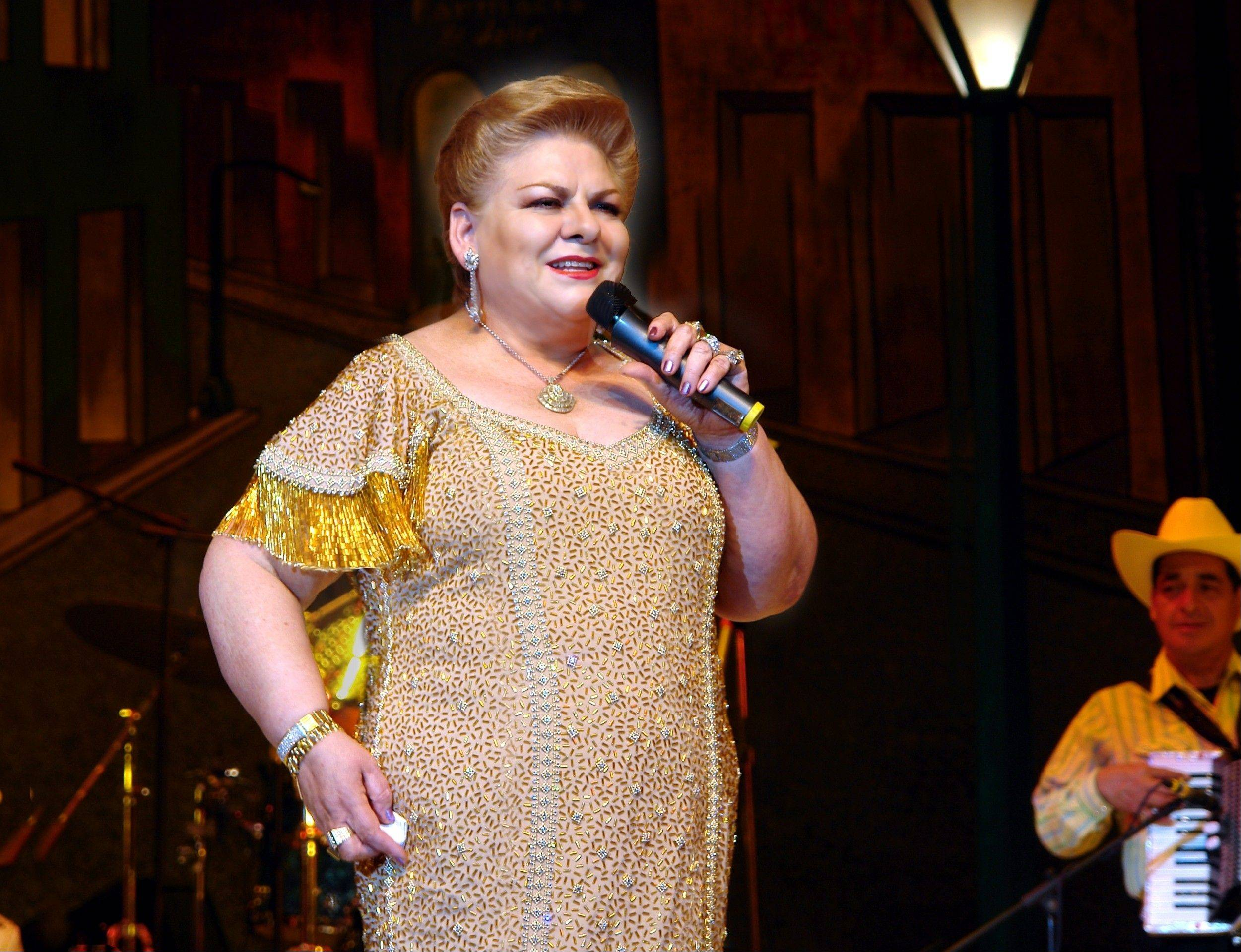 "Paquita La Del Barrio (pictured) and Alfredo Bojorquez (aka ""El Puma"") are replacing Joan Sebastian and Ram�n Ayala on Friday, Sept. 13, at RiverEdge Park in Aurora."