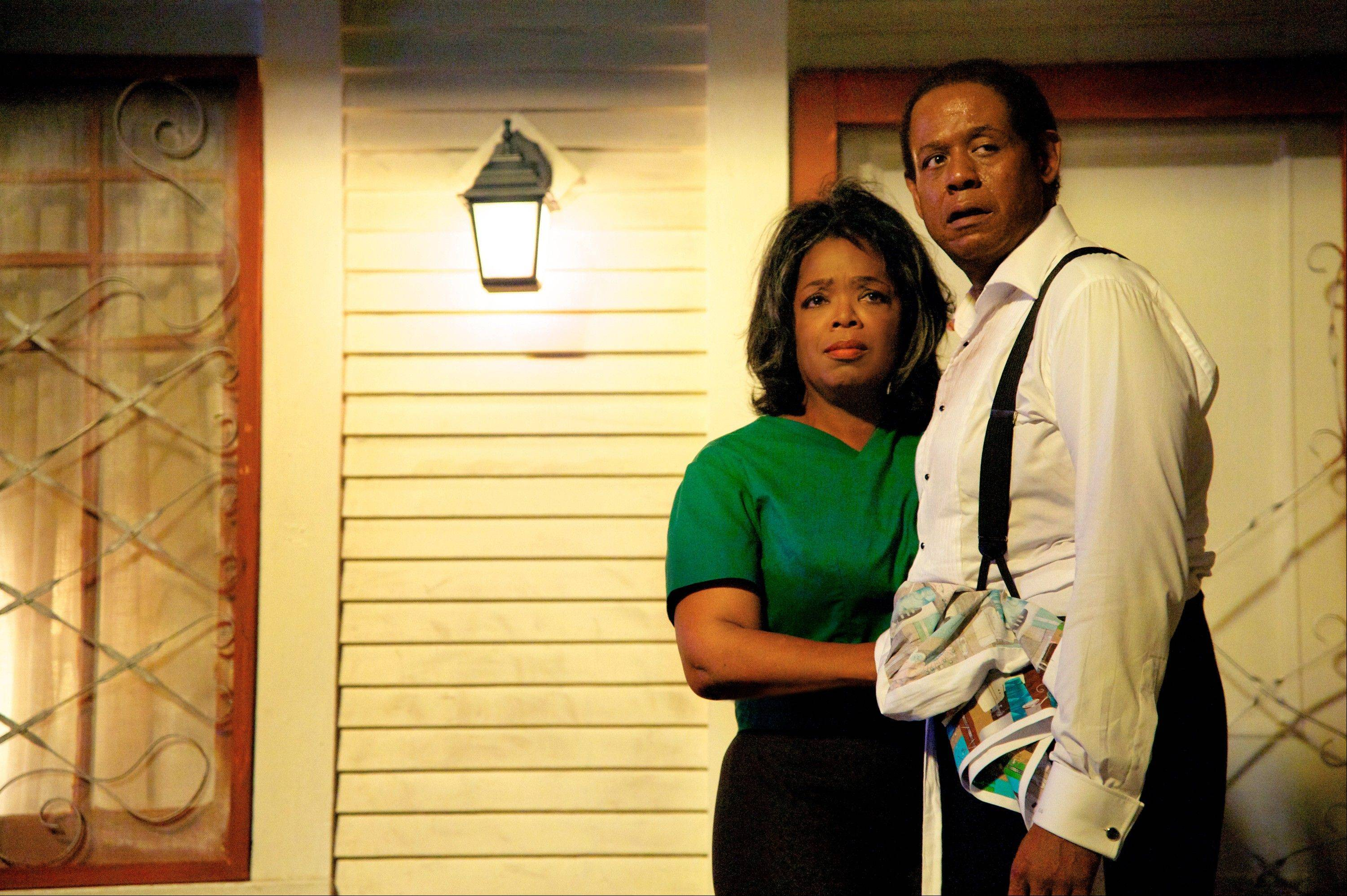 "Gloria (Oprah Winfrey) and her husband, Cecil (Forest Whitaker), move to Washington, D.C., when he gets a job as a White House staffer in the historical drama ""Lee Daniels' The Butler."""