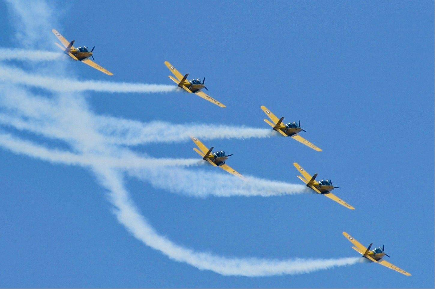 The Lima Lima Flight Team will perform maneuvers over Lake Michigan at the Chicago Air & Water Show this weekend.