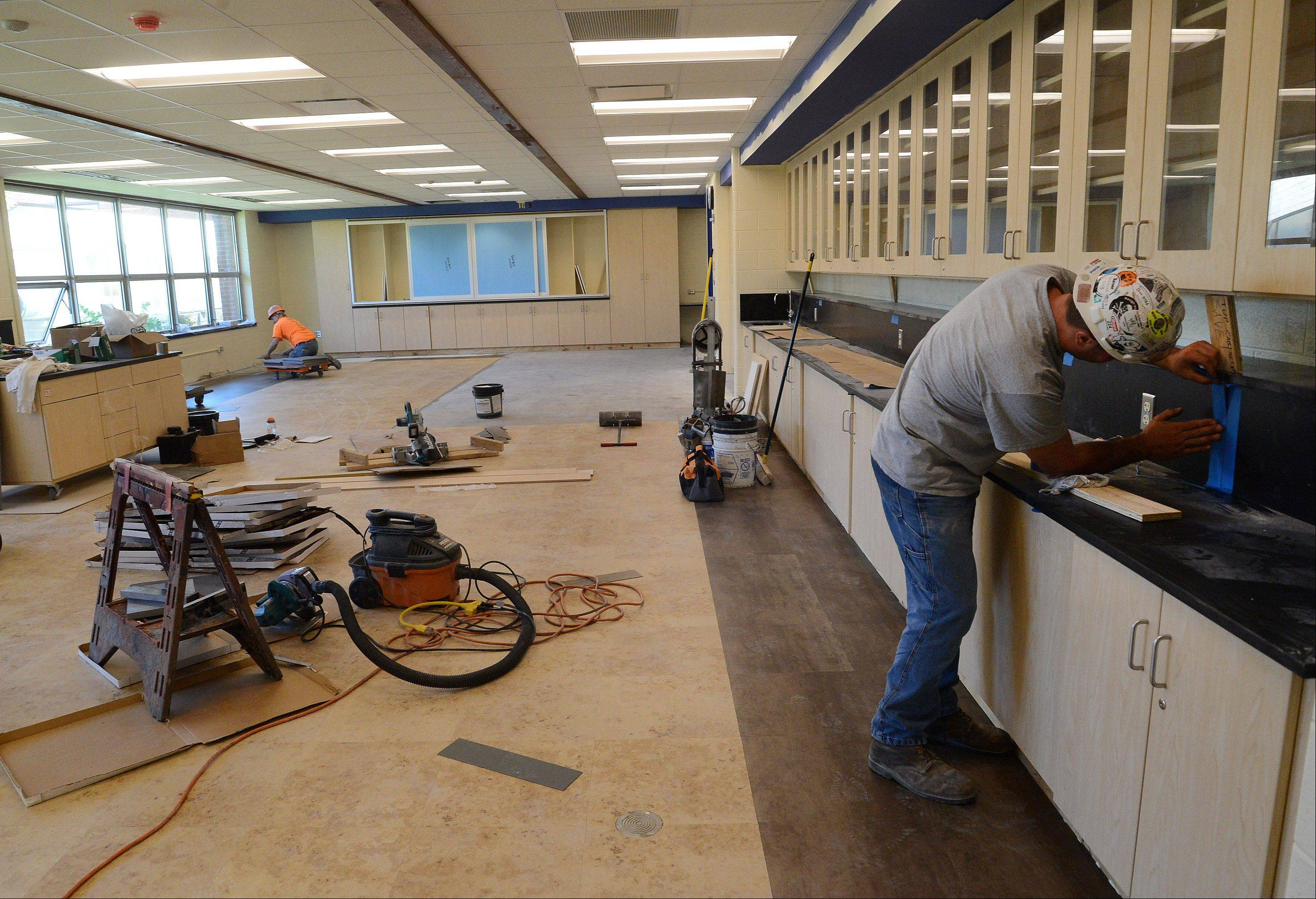 Two science labs were renovated as part of a $3.2 million renovation project at Oak Grove School in Green Oaks.
