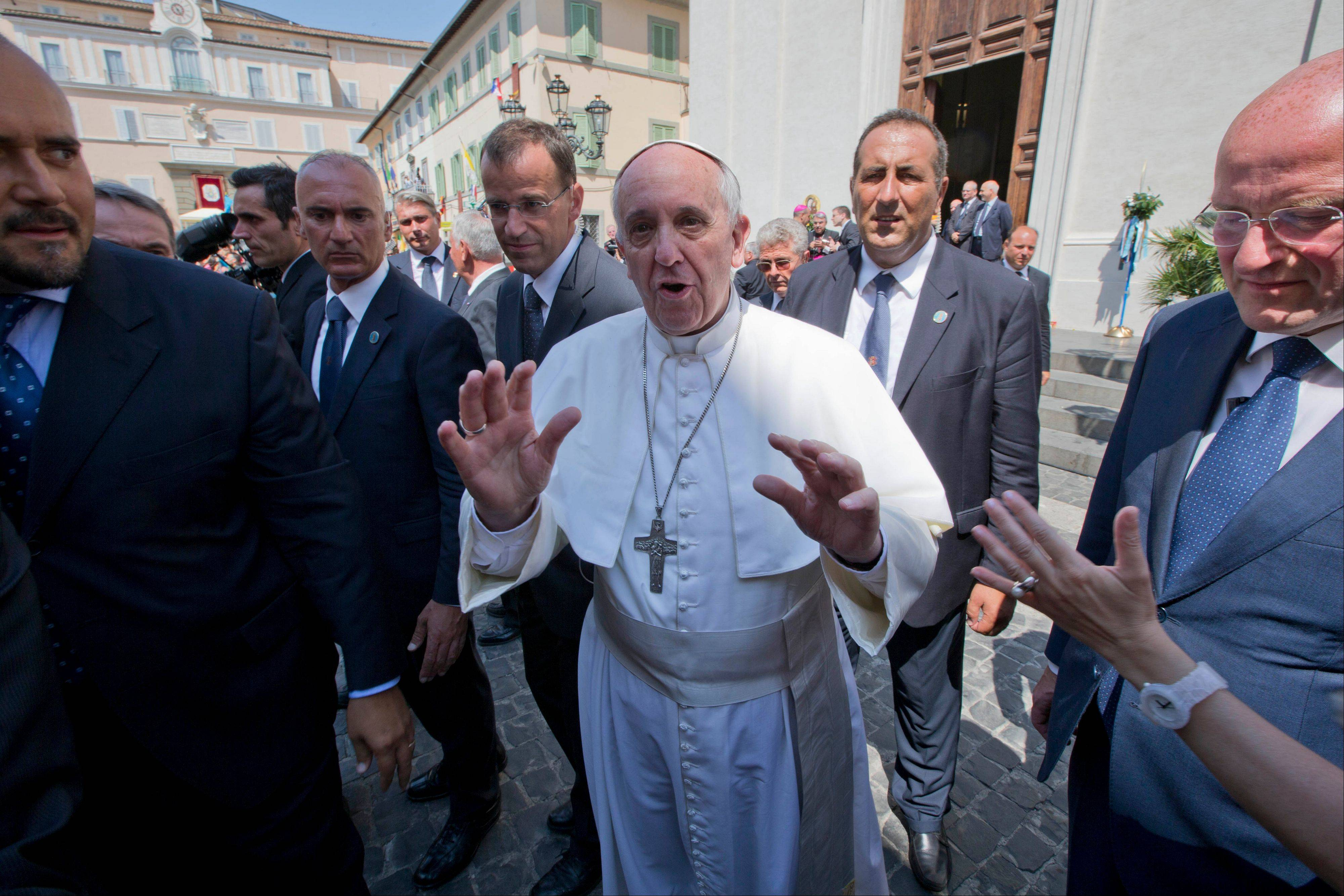 "Pope Francis said at the end of a Mass he celebrated Thursday that he wanted to assure his prayers to the victims, their families, the wounded and all those suffering in Egypt. He urged prayers for ""peace, dialogue and reconciliation for that dear land."""