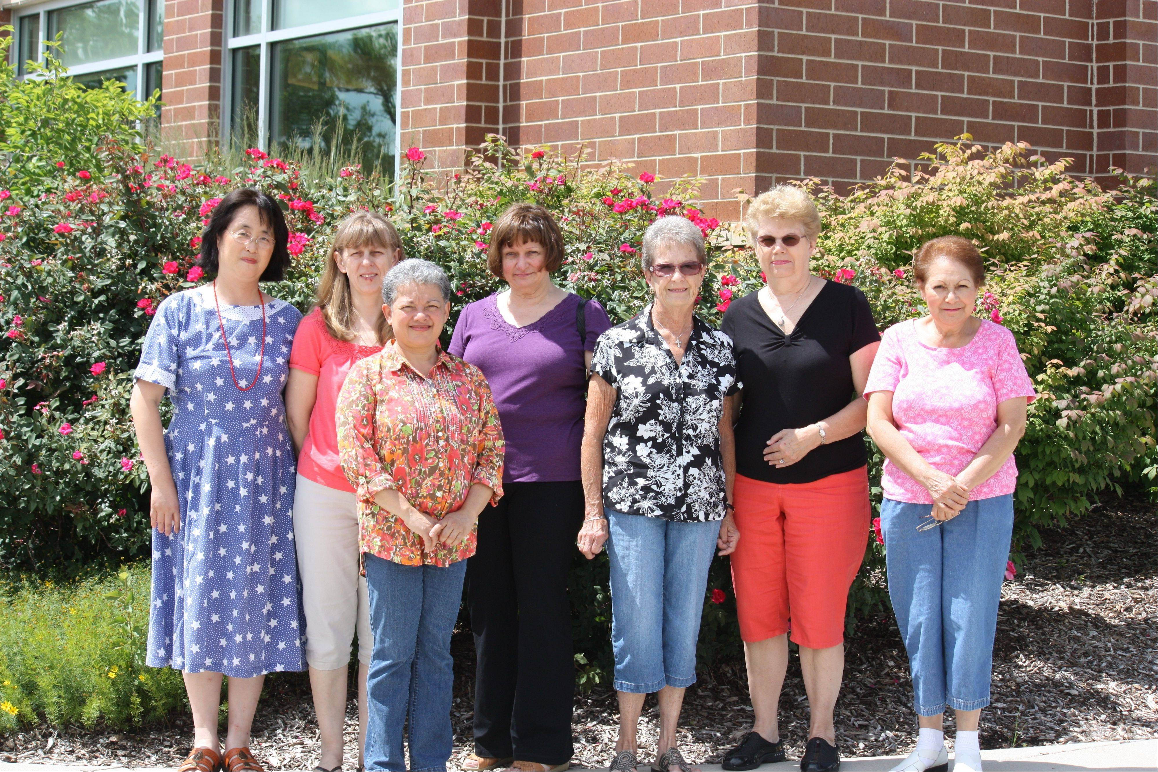Members of the Quilting with Margaret group, from left, are: Renjie Chang, Margaret Luba, Enid Figueroa, Margaret Plank, Sandy Fehling, Judy Dzikonski and Blanca Villasenor.