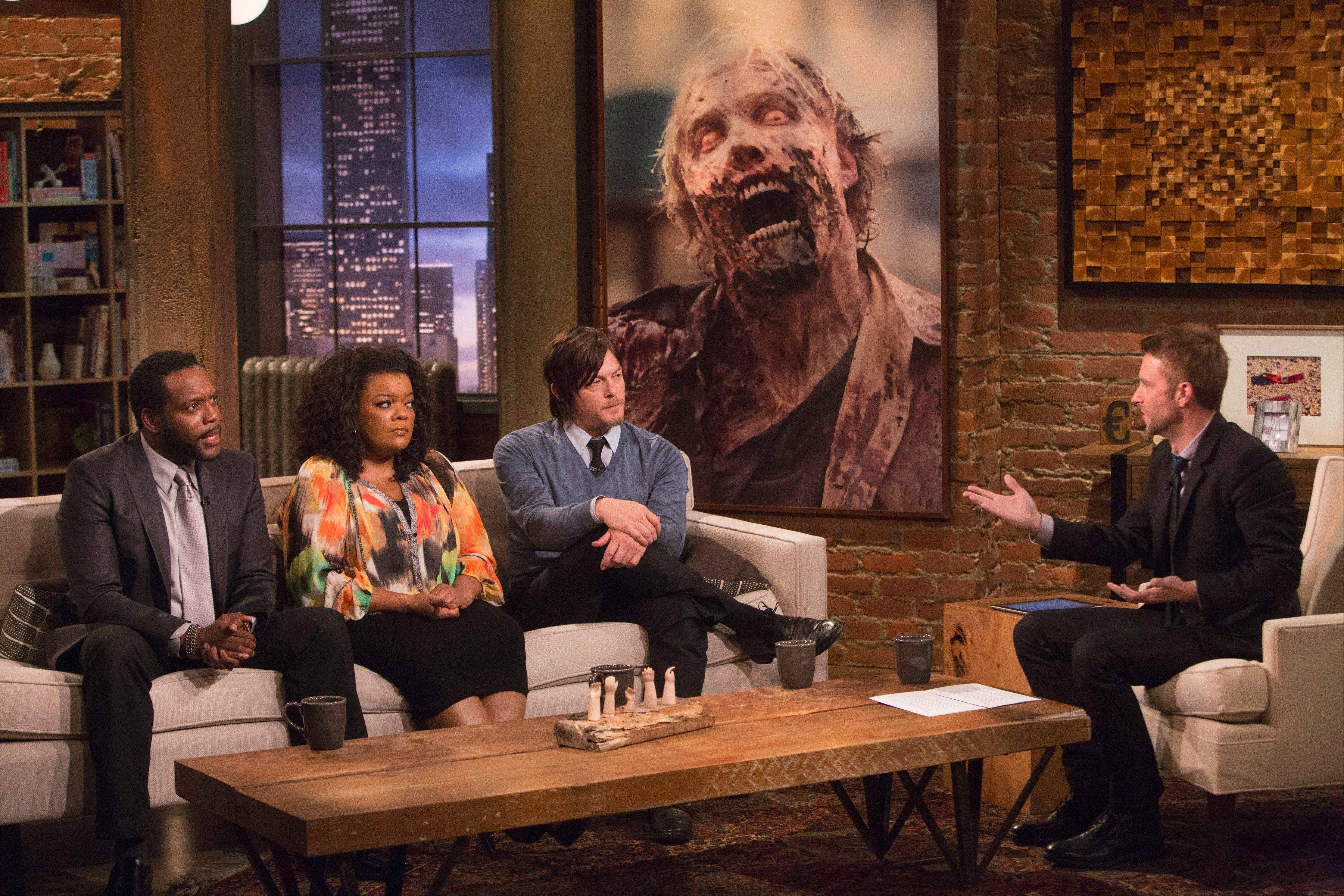 "Host Chris Hardwick discusses episodes of AMC's ""Walking Dead"" with guests like Chad Coleman, Yvette Nicole Brown and Norman Reedus in the aftershow ""Talking Dead."""