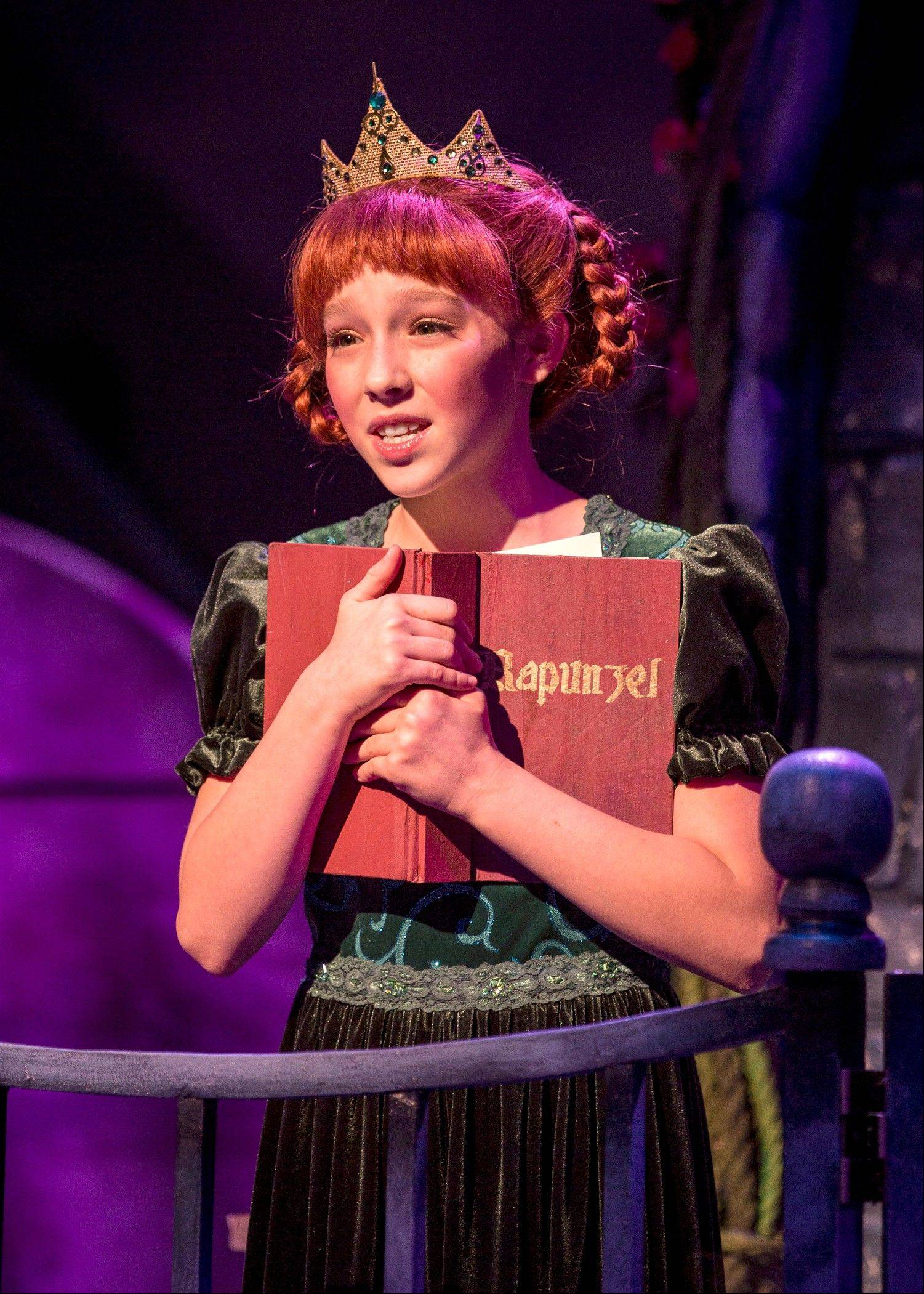 "Emily Leahy appears as young Fiona in Chicago Shakespeare Theater's ""Shrek: The Musical."""