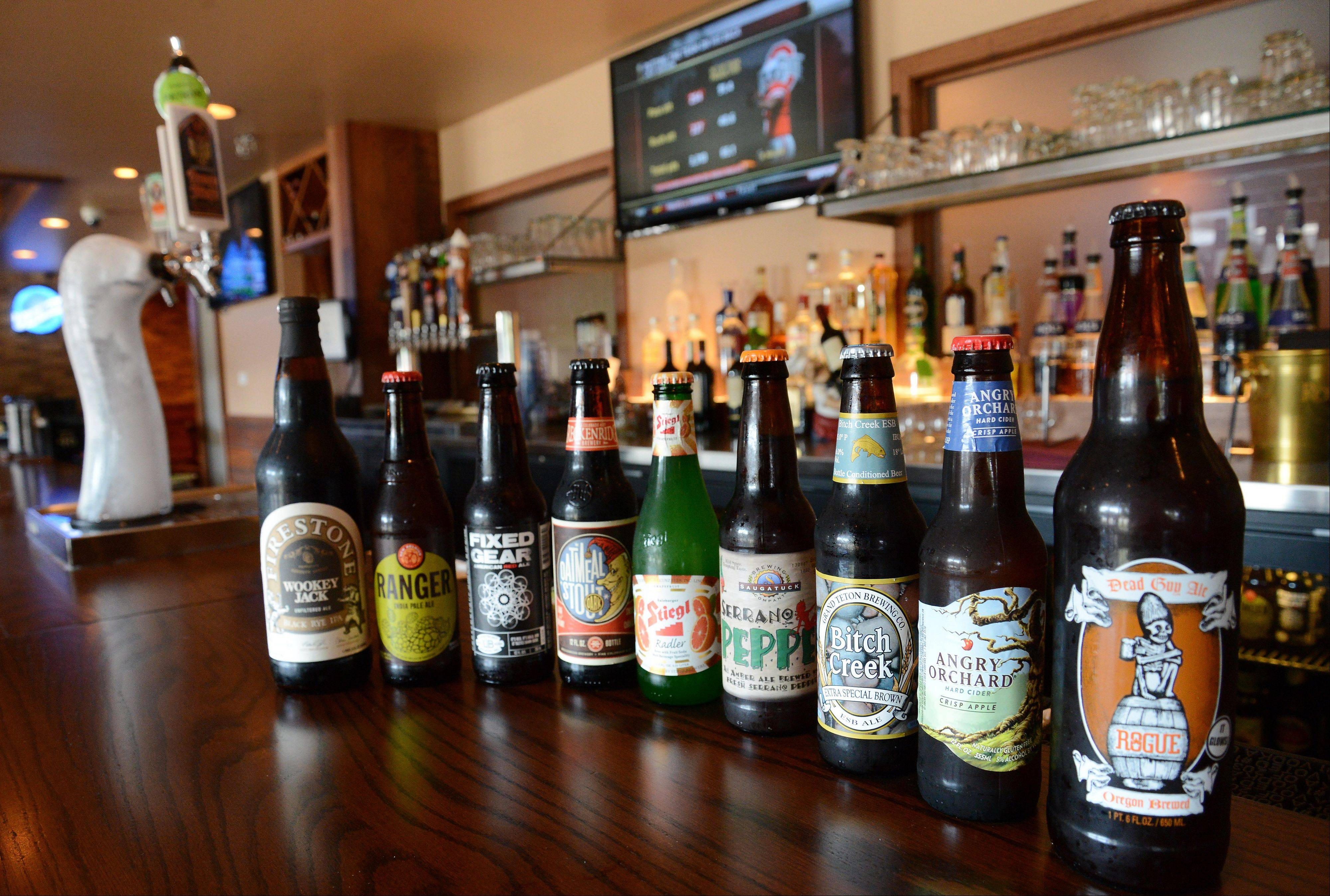 A wide variety of bottled beers are available at D'Agostino's Pizza and Pub in Wheeling.