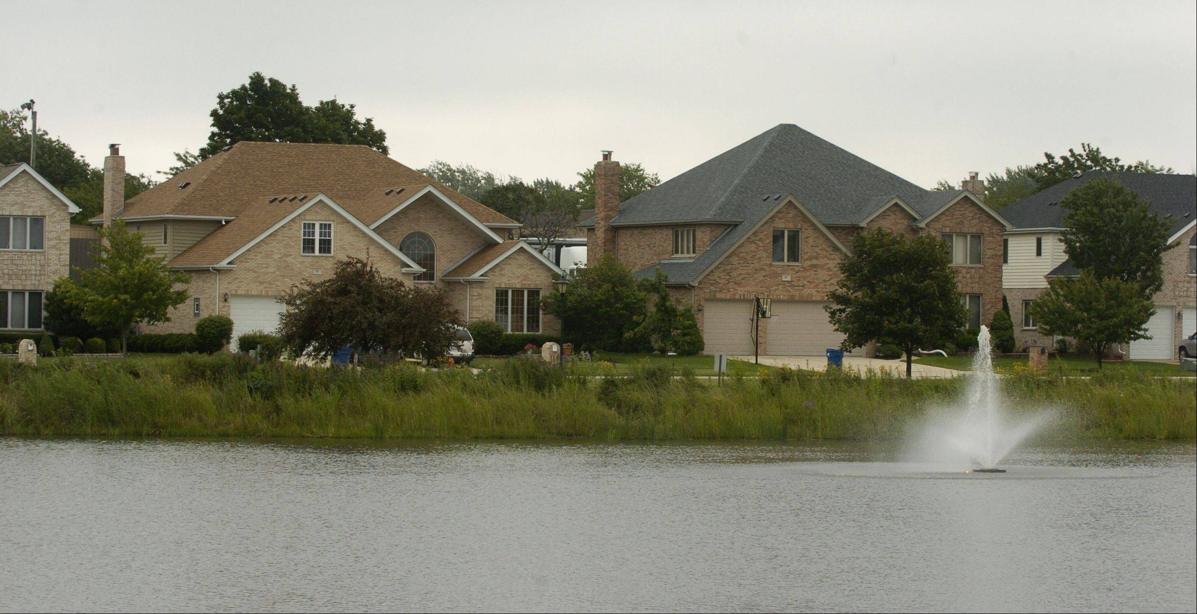 A large private pond is maintained by the Hampton in the Park homeowners association.