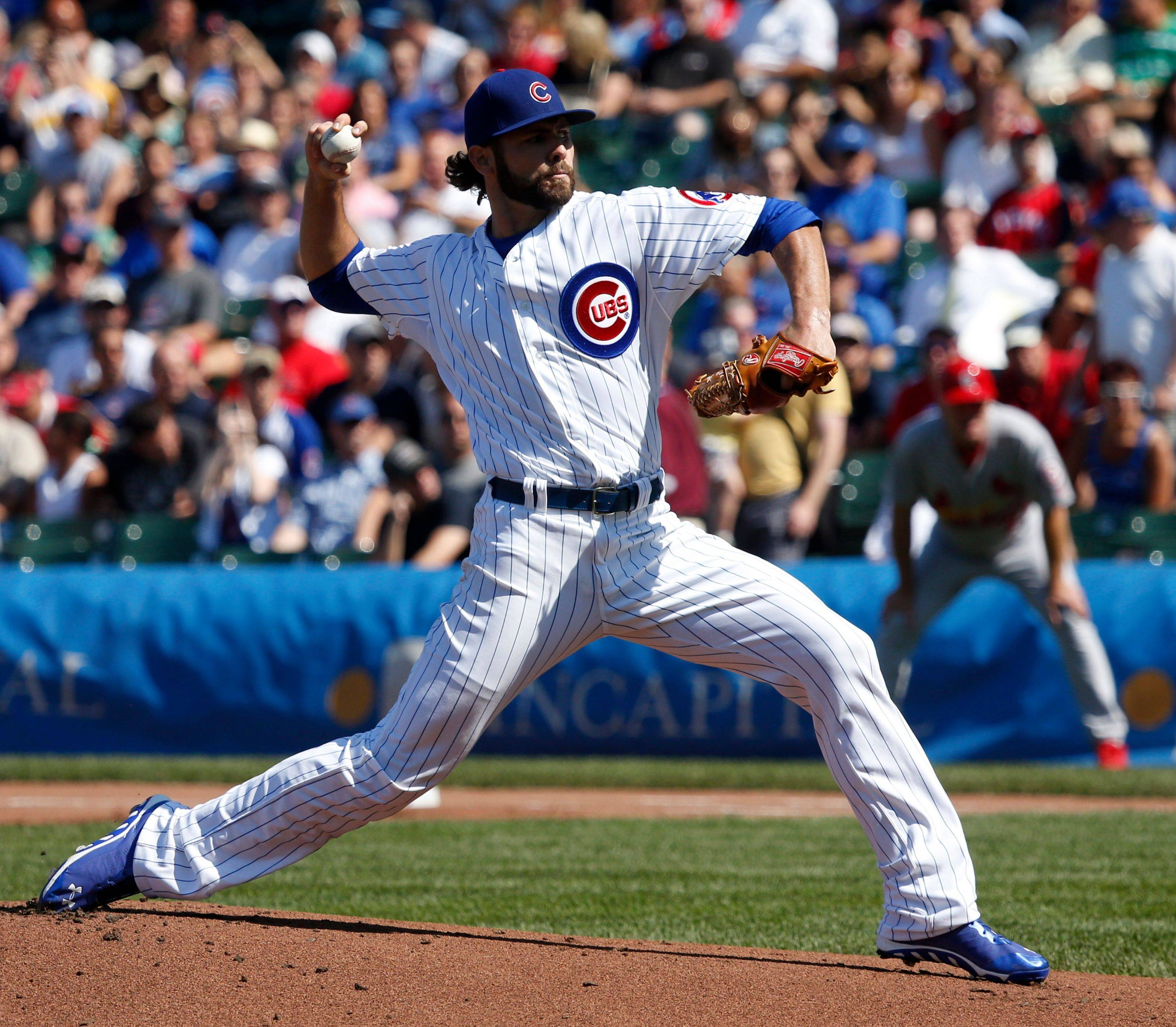 Mixing in curveballs, sliders and off-speed pitches that all top 90 miles per hour, Cubs righty Jake Arrieta threw 7 shutout innings Friday against the Cardinals.
