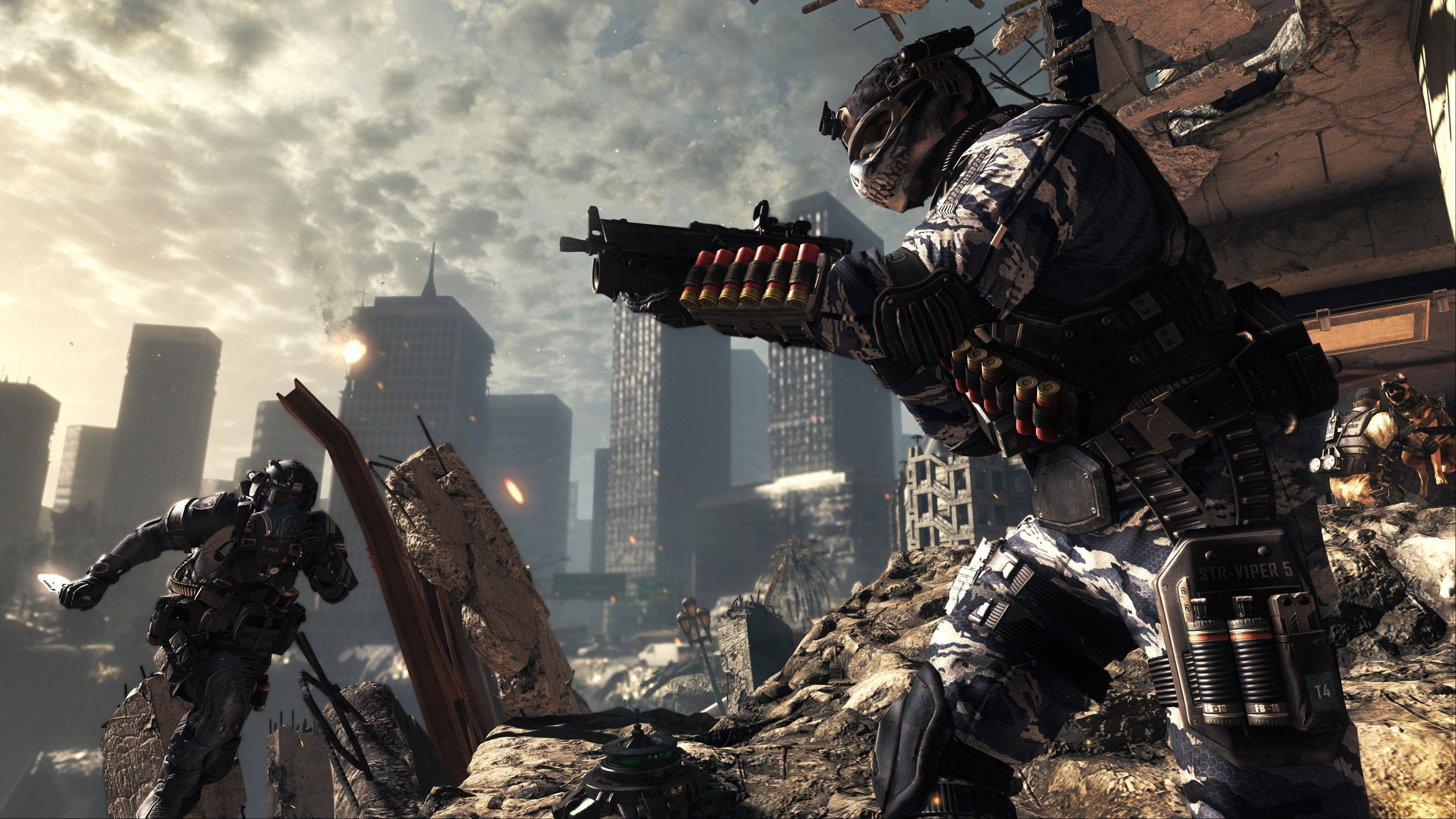 """Call of Duty: Ghosts"" is amping up the new game with interactive maps, canine sidekicks and a new mode called ""cranked."""