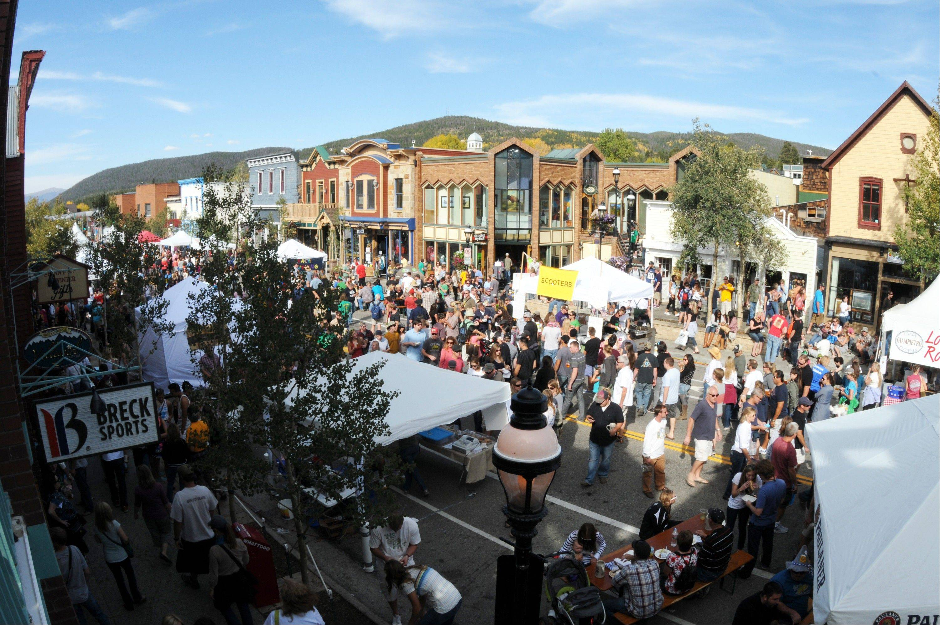 Crowds enjoy the annual Oktoberfest celebration in Breckenridge.