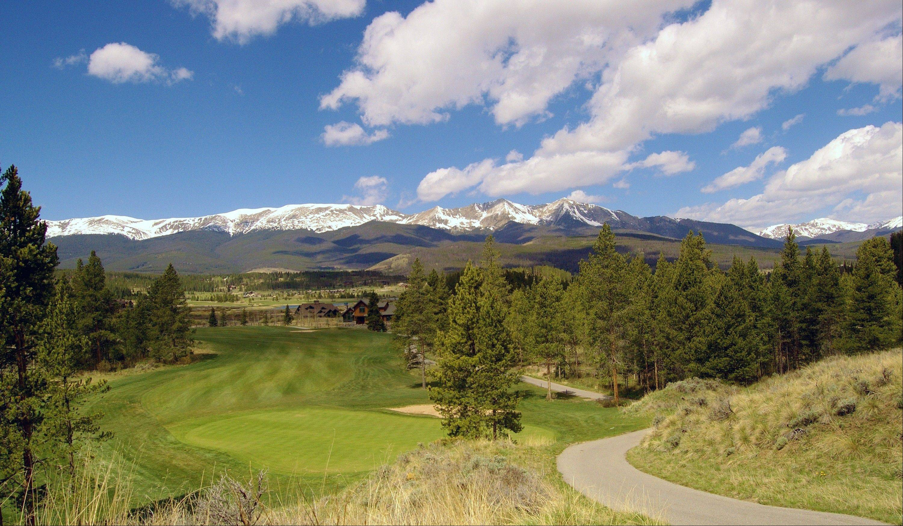A scenic view of the Breckenridge Golf Club in Breckenridge, Colo.