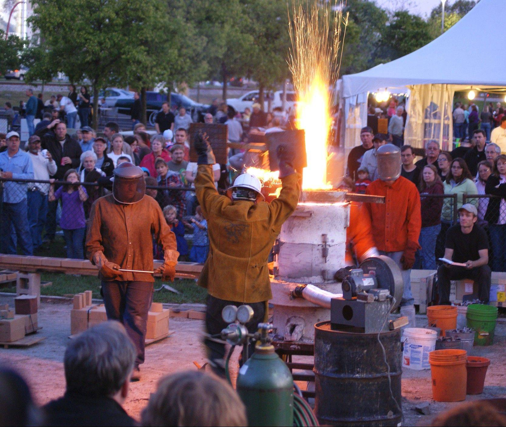 Get in on Iron Pour and Glass Forming Workshops at the ArtFEST in Columbus, Ind.