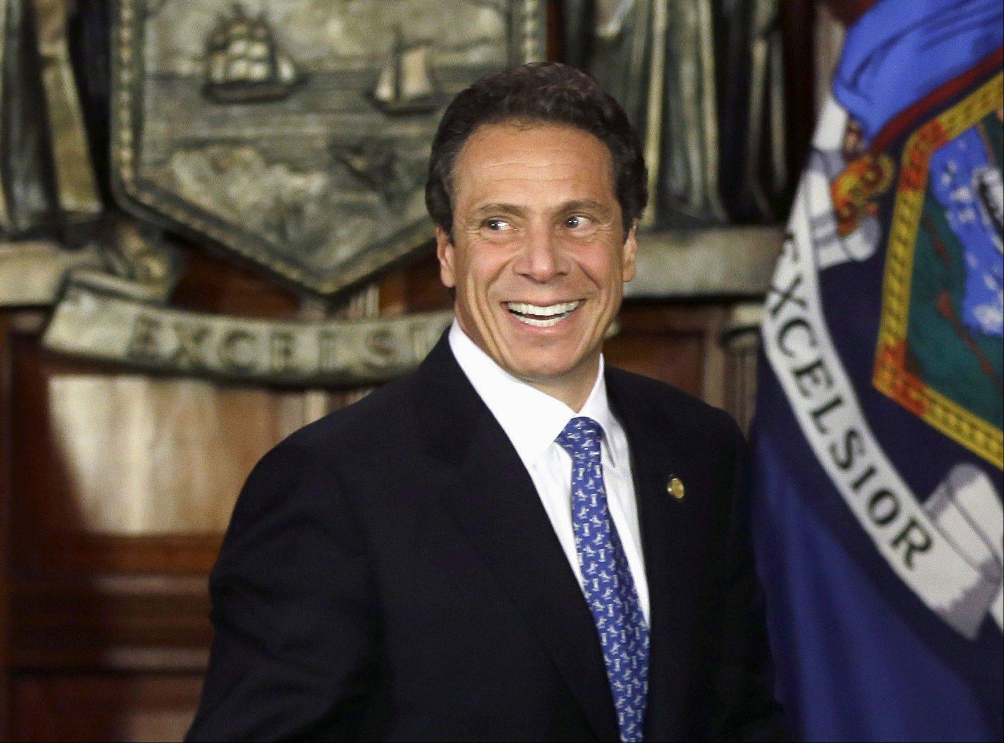 In this July 2, 2013 file photo, New York Gov. Andrew Cuomo takes part in a ceremony in Albany, N.Y. Get your face on TV and write a book: Check. Start meeting the big money people: Check. Visit Iowa, New Hampshire, South Carolina _ Israel, too: Check. Deny any of this has to do with running for president: Check. For politicians planning or tempted to run for the presidency in 2016, the to-do list is formidable. What�s striking is how methodically most of them are plowing through it while they pretend nothing of the sort is going on.