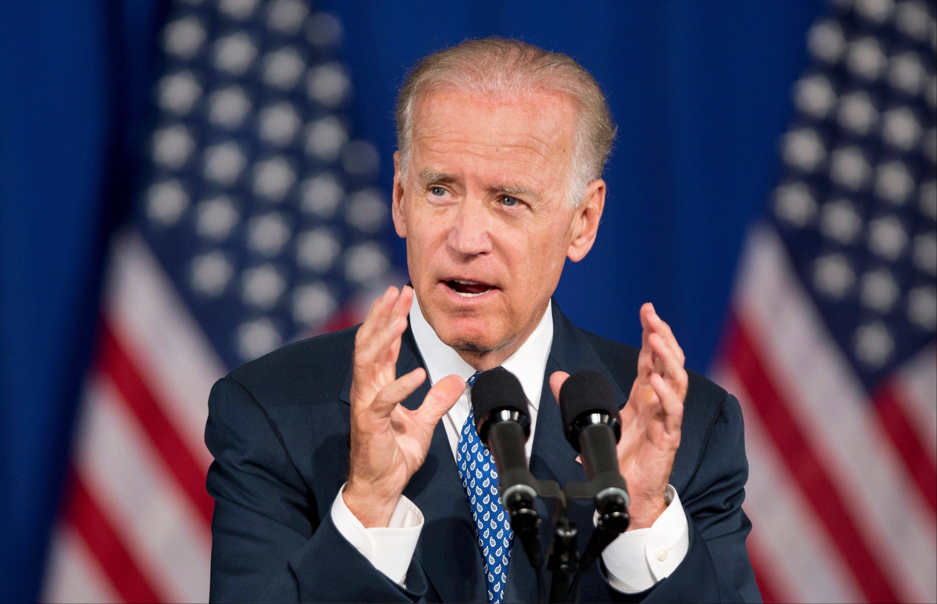 Vice President Joe Biden speaks in Washington last July.