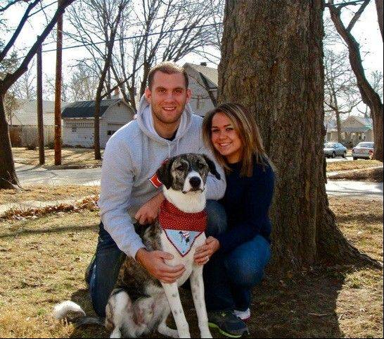Sgt. Tim Johannsen reunited with his wife, Kaydee, and Leonidas after finishing his combat tour in early 2012.