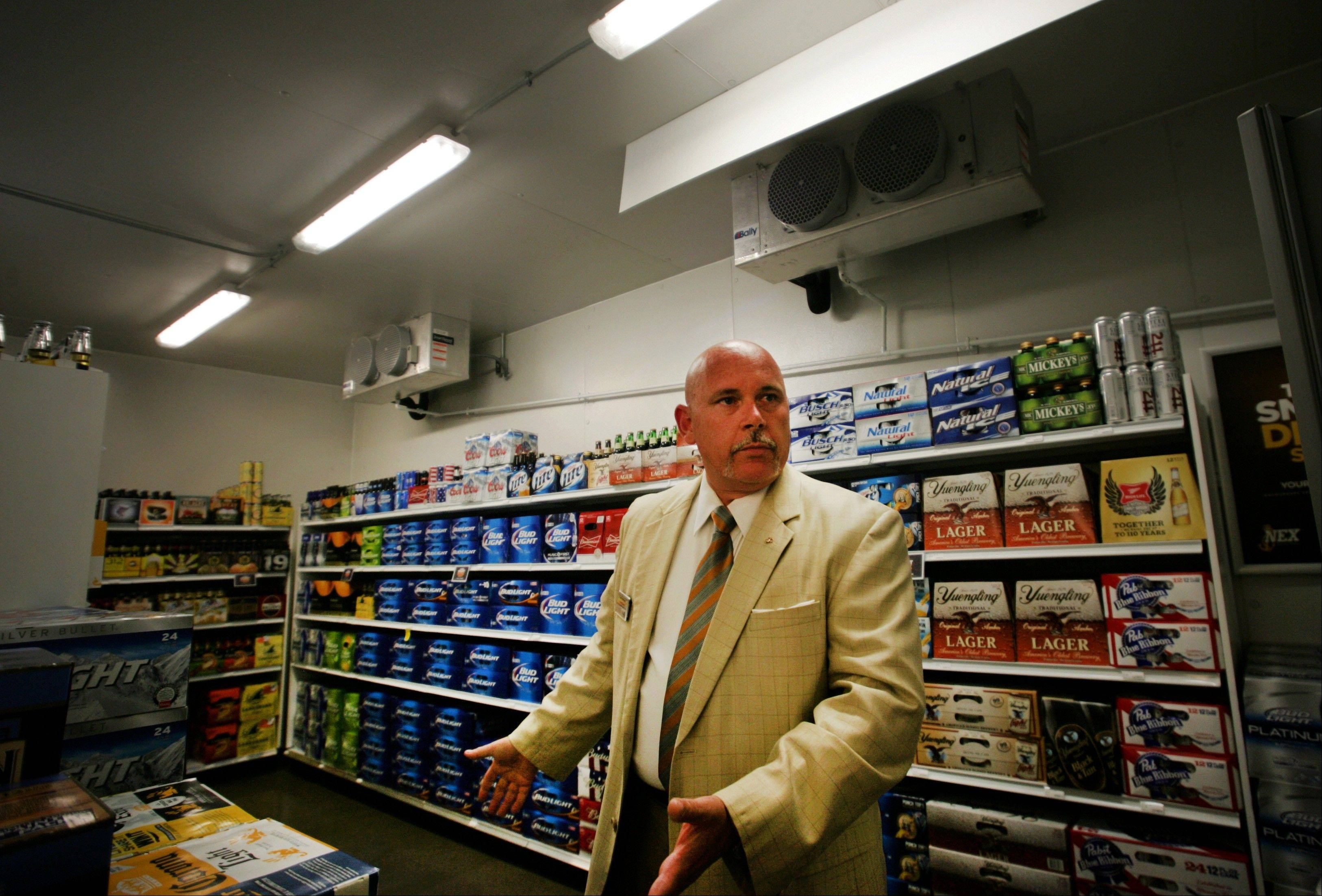 Tom Jacobson, general manager of the Navy Exchange Service Command, inside one of his stores last July in Norfolk, Va. The NEX Main Exchange is the world's largest among military installations.