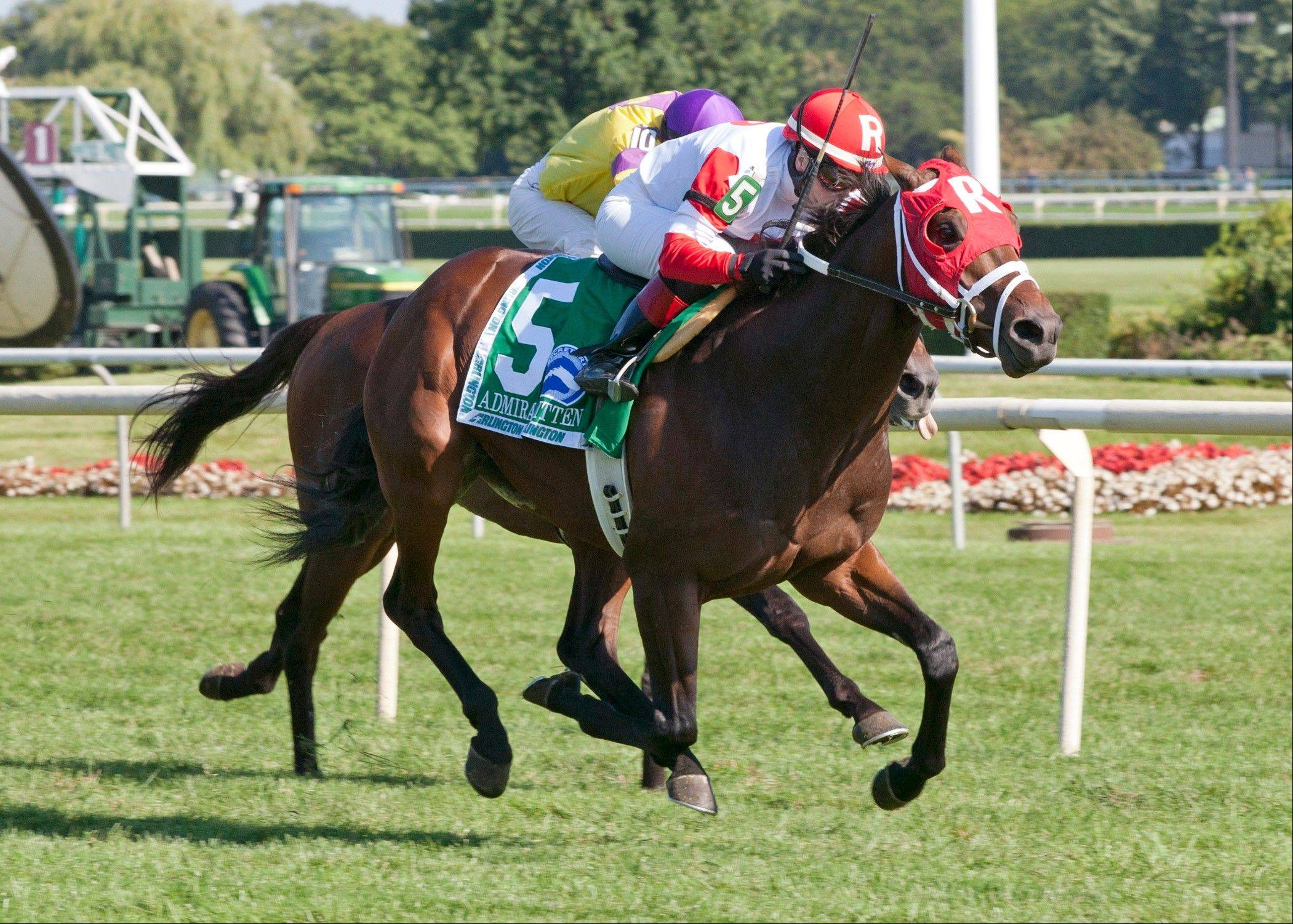 Four Footed photosAdmiral Kitten prevailed in the Secretariat Stakes at Arlington Park on Saturday.