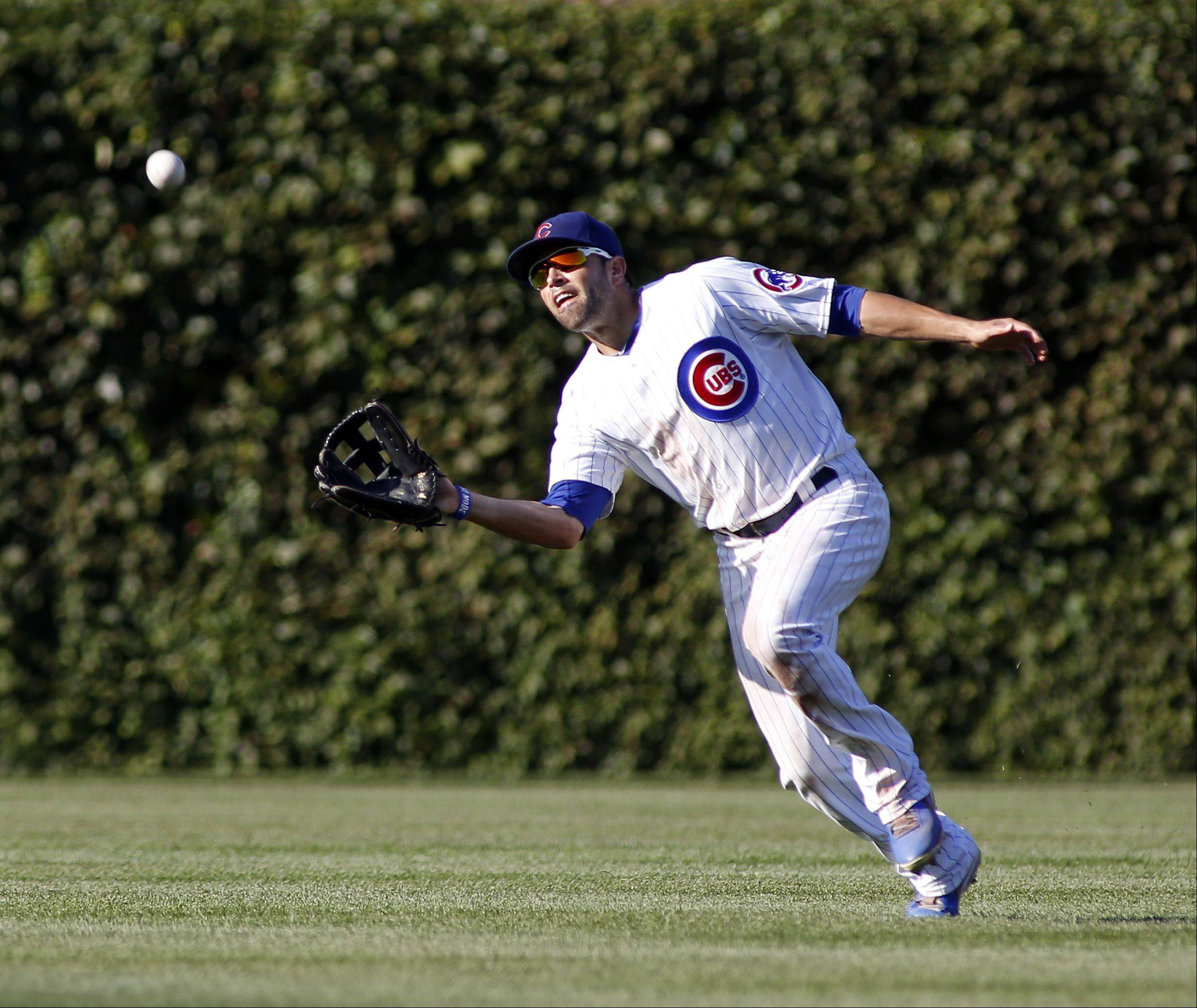 The Cubs dealt outfielder David DeJesus on Monday to the Washington Nationals.