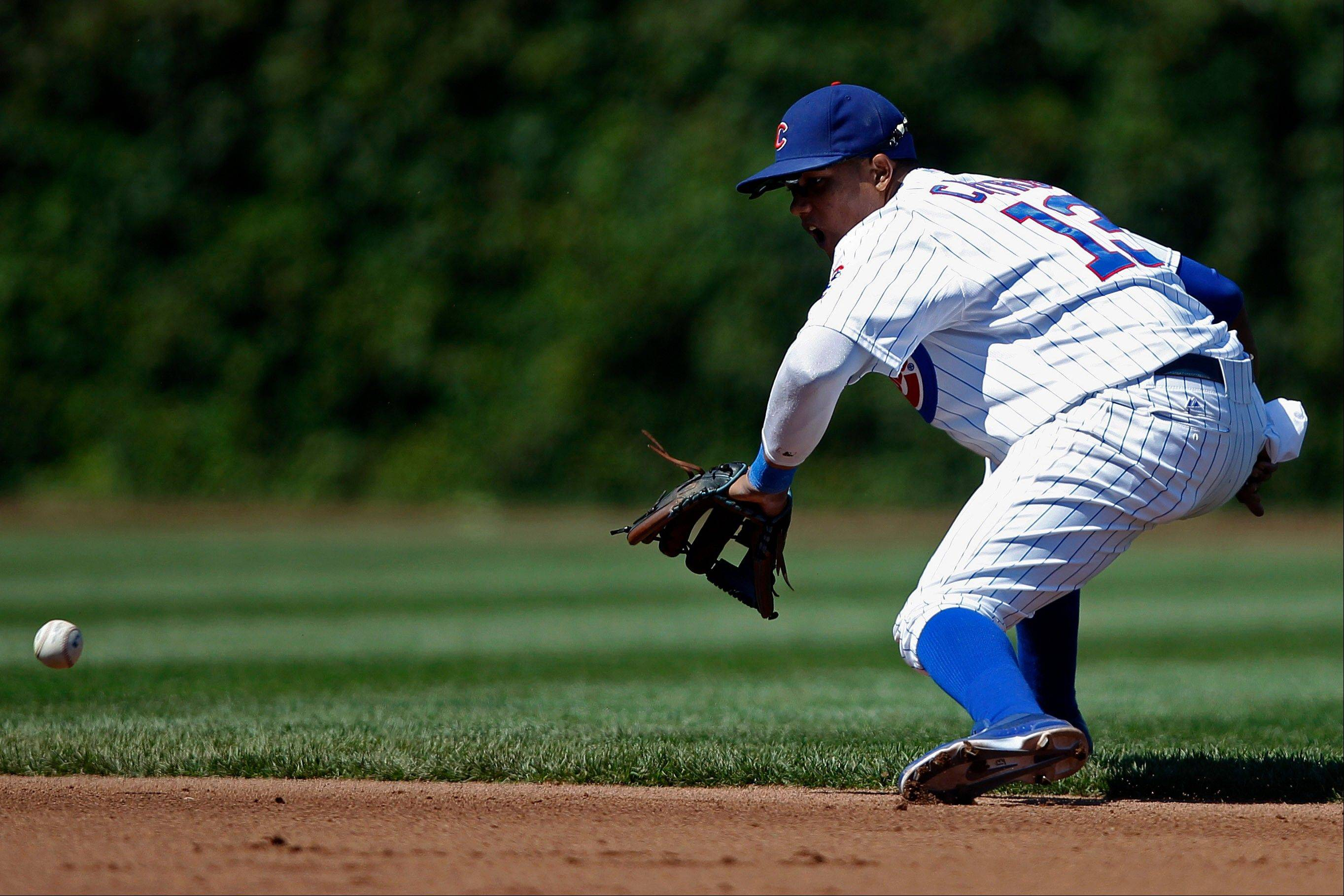 Associated Press A day after being benched for a mental mistake, Cubs shortstop Starlin Castro was back on the field. The Cubs and manager Dale Sveum knows the only way Castro can become a consistent major-league player is to play.