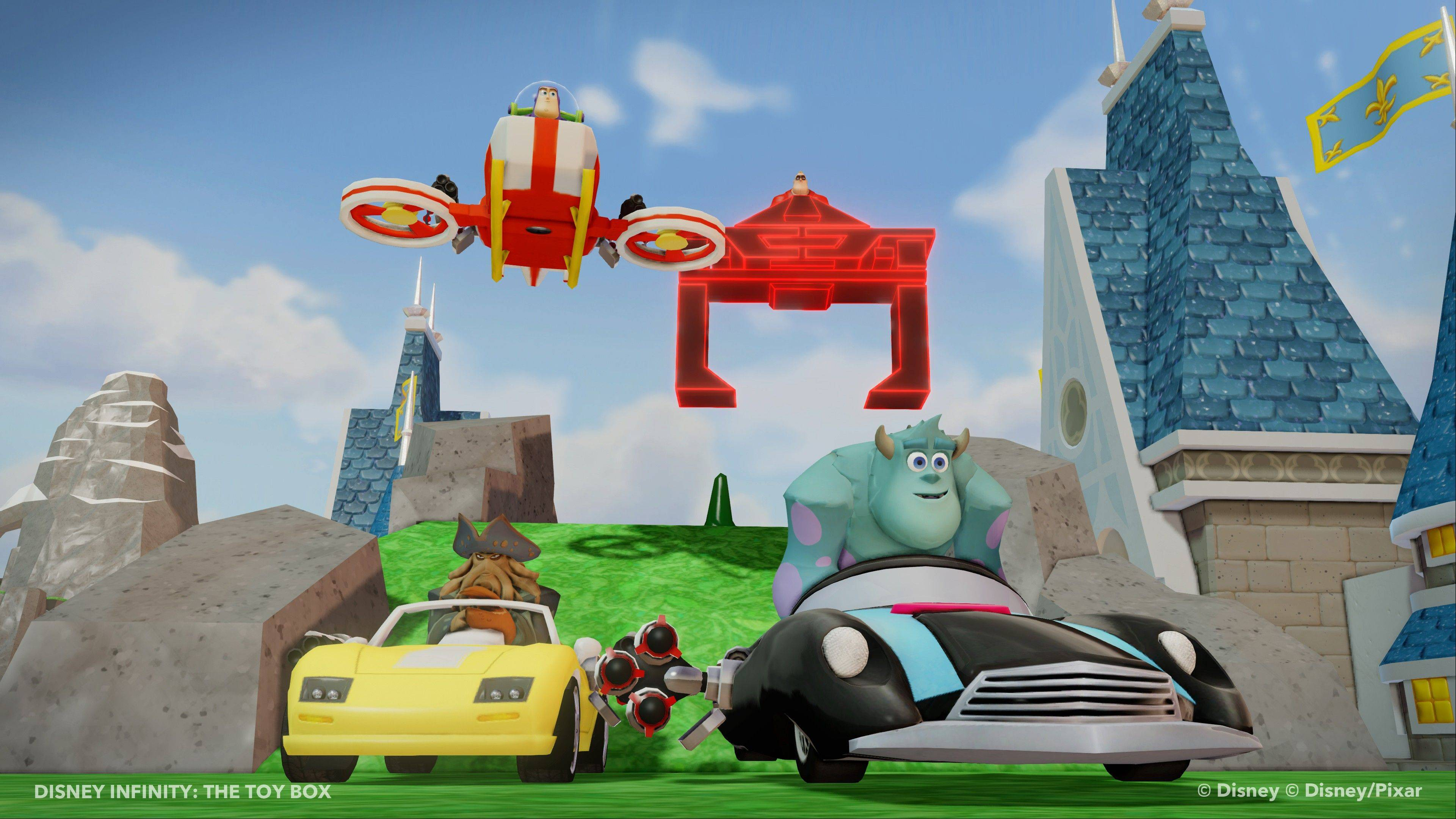 "Play as Sulley or another Disney character in the new open-world 3-D game ""Disney Infinity."""