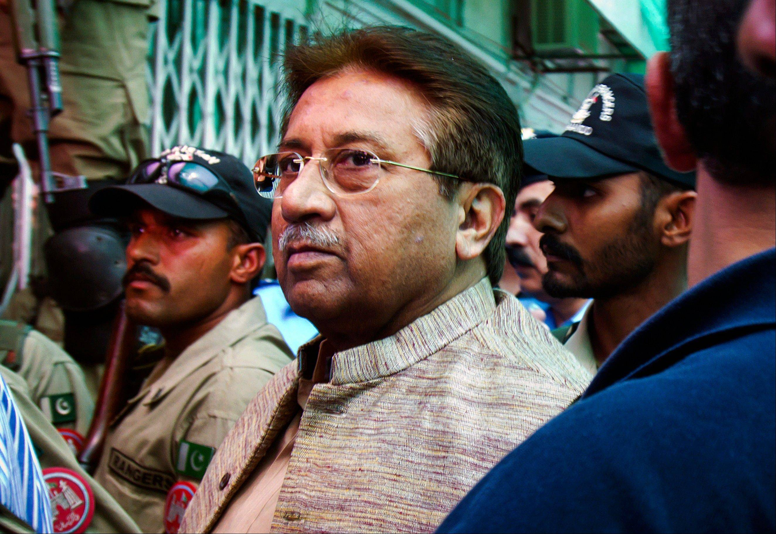 A Pakistani court Tuesday indicted former President and military ruler Pervez Musharraf on murder charges in connection with the 2007 assassination of iconic Pakistani Prime Minister Benazir Bhutto, deepening the fall of a once-powerful figure who returned to the country this year in an effort to take part in elections.